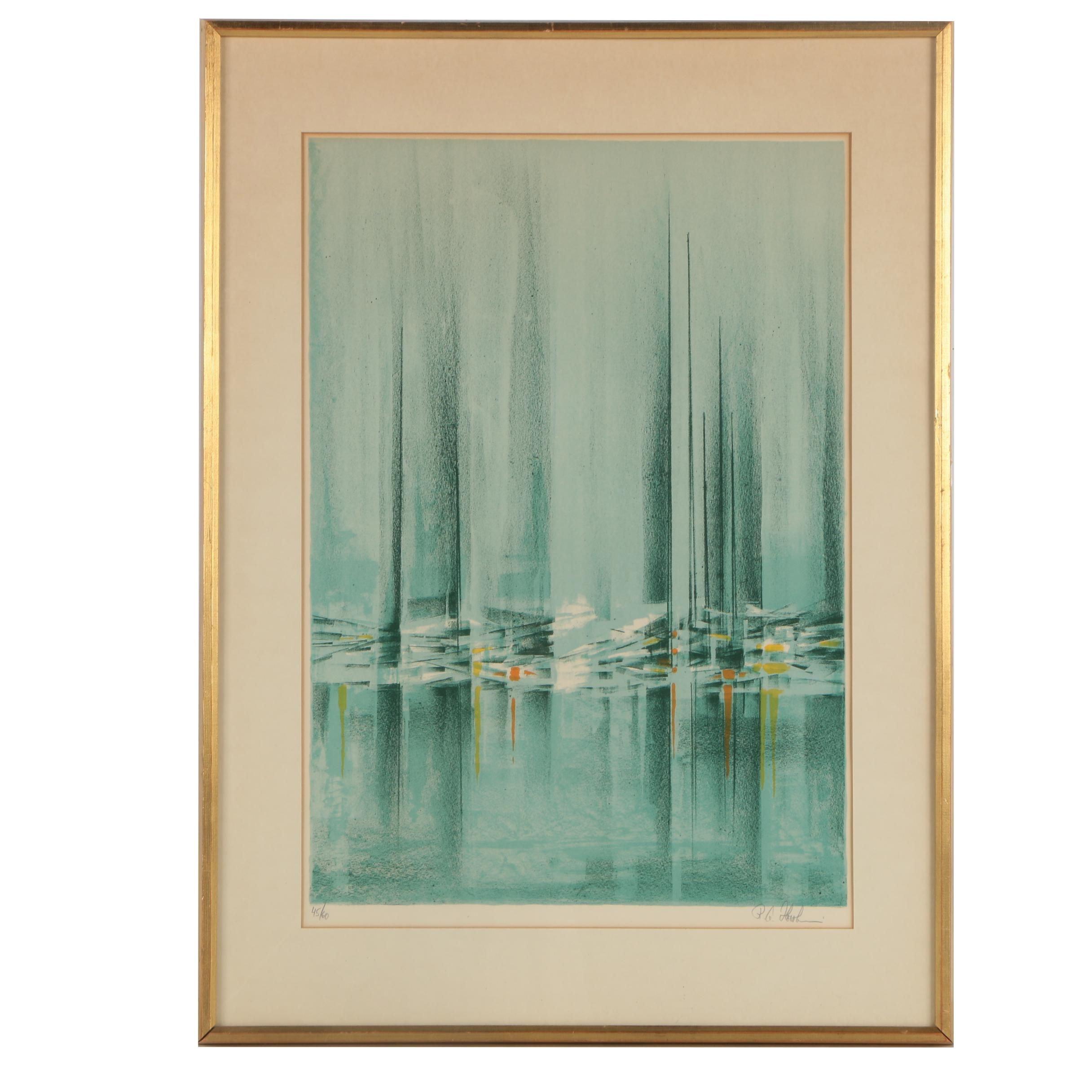 """Richard Florsheim Lithograph """"Reflections"""""""
