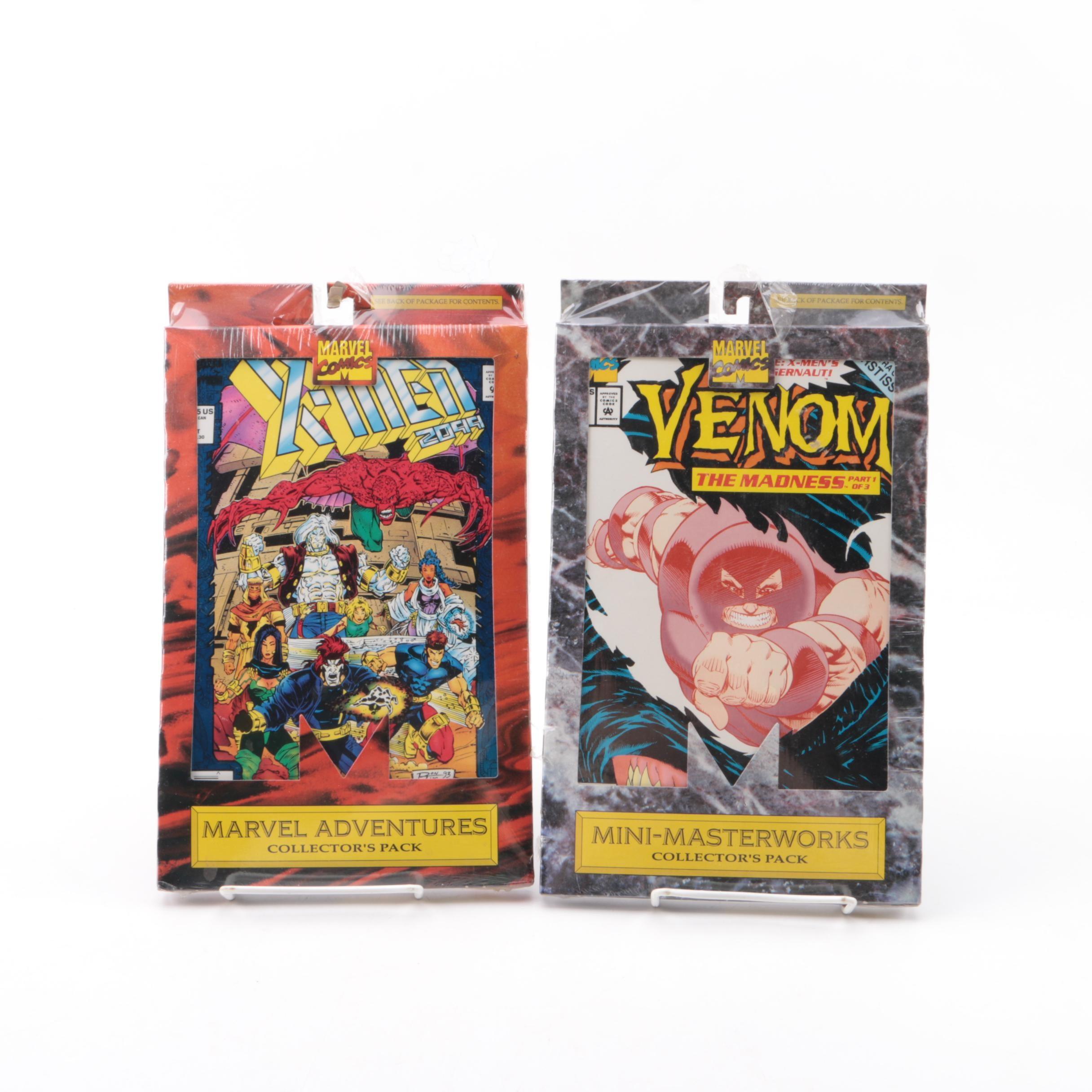 "Marvel Collector's Packs Including X-Men 2099"" and ""Venom"""