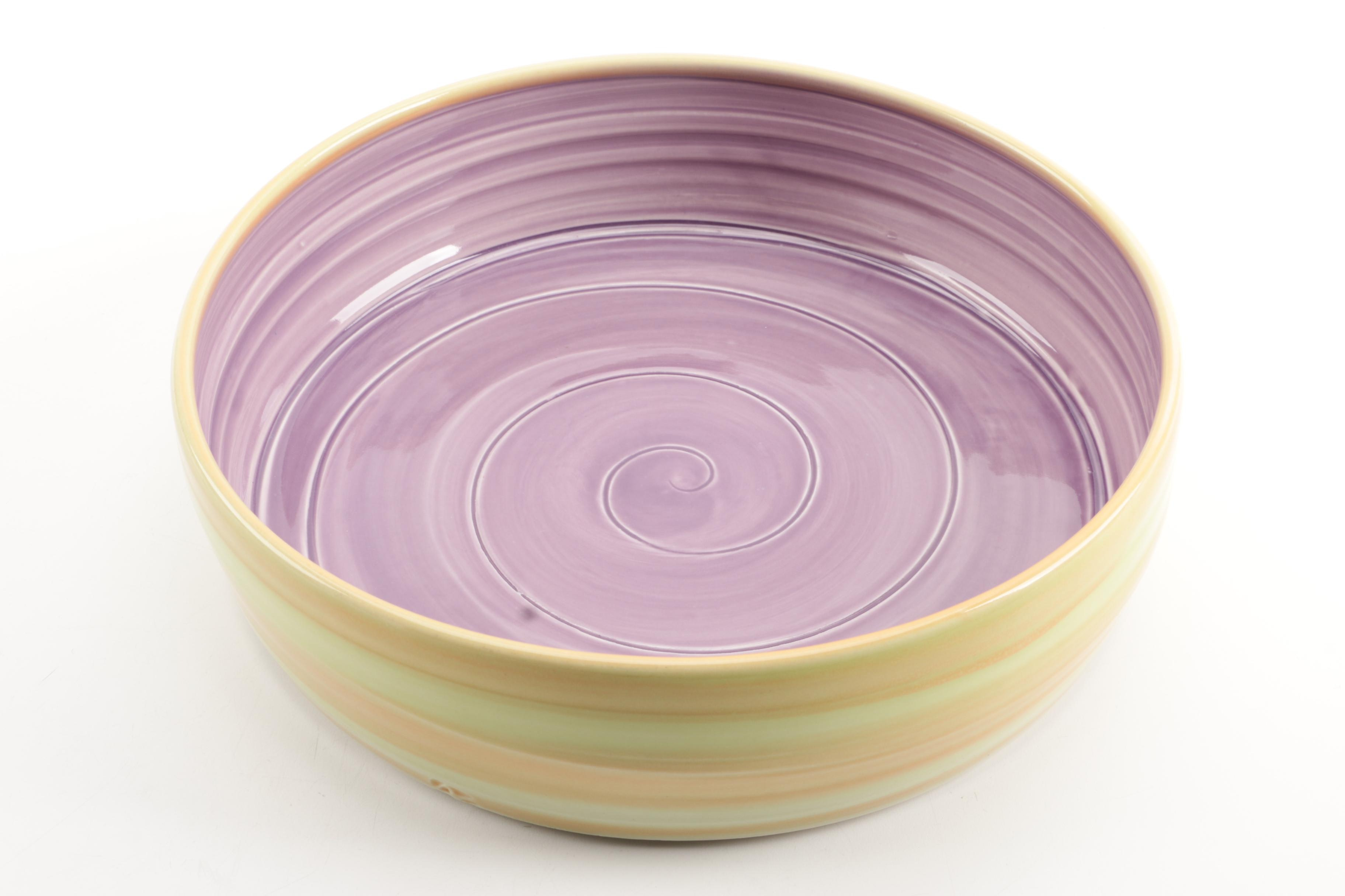 Contemporary Glazed Stoneware Dish