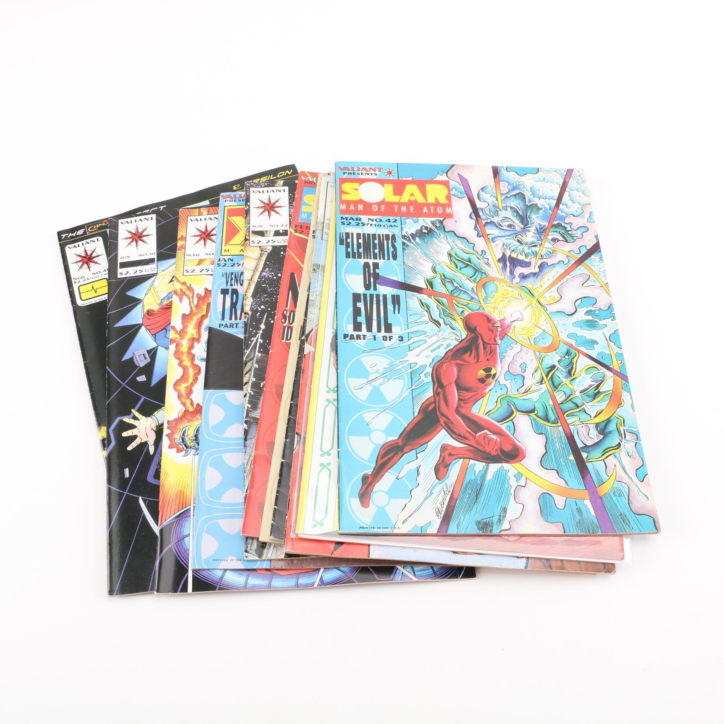 "Modern Age Valiant Comic Books Including ""Solar"" and ""Bloodshot"""