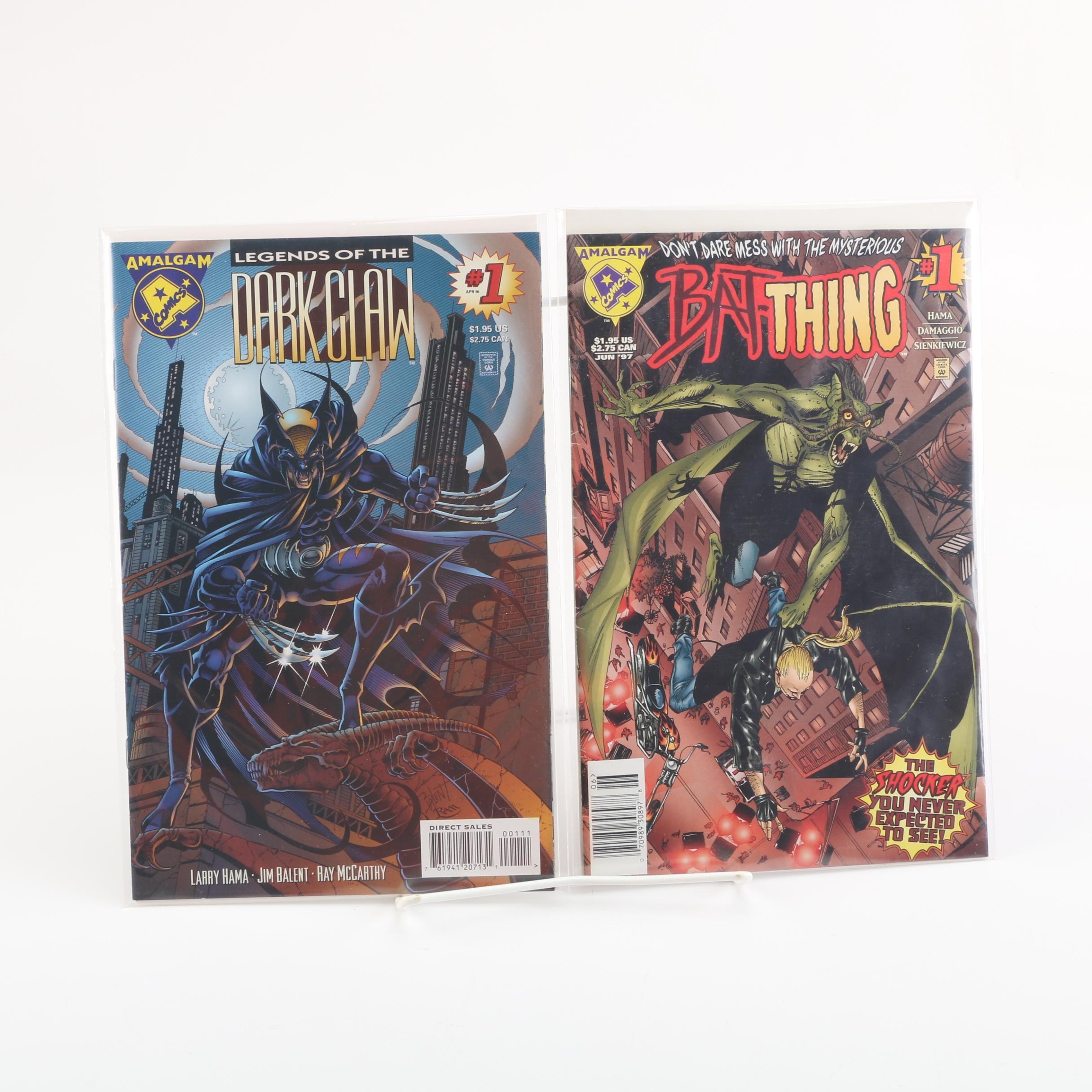"Amalgam Comics ""Dark Claw"" and ""Bat-Thing"" Issue Number One Comic Books"