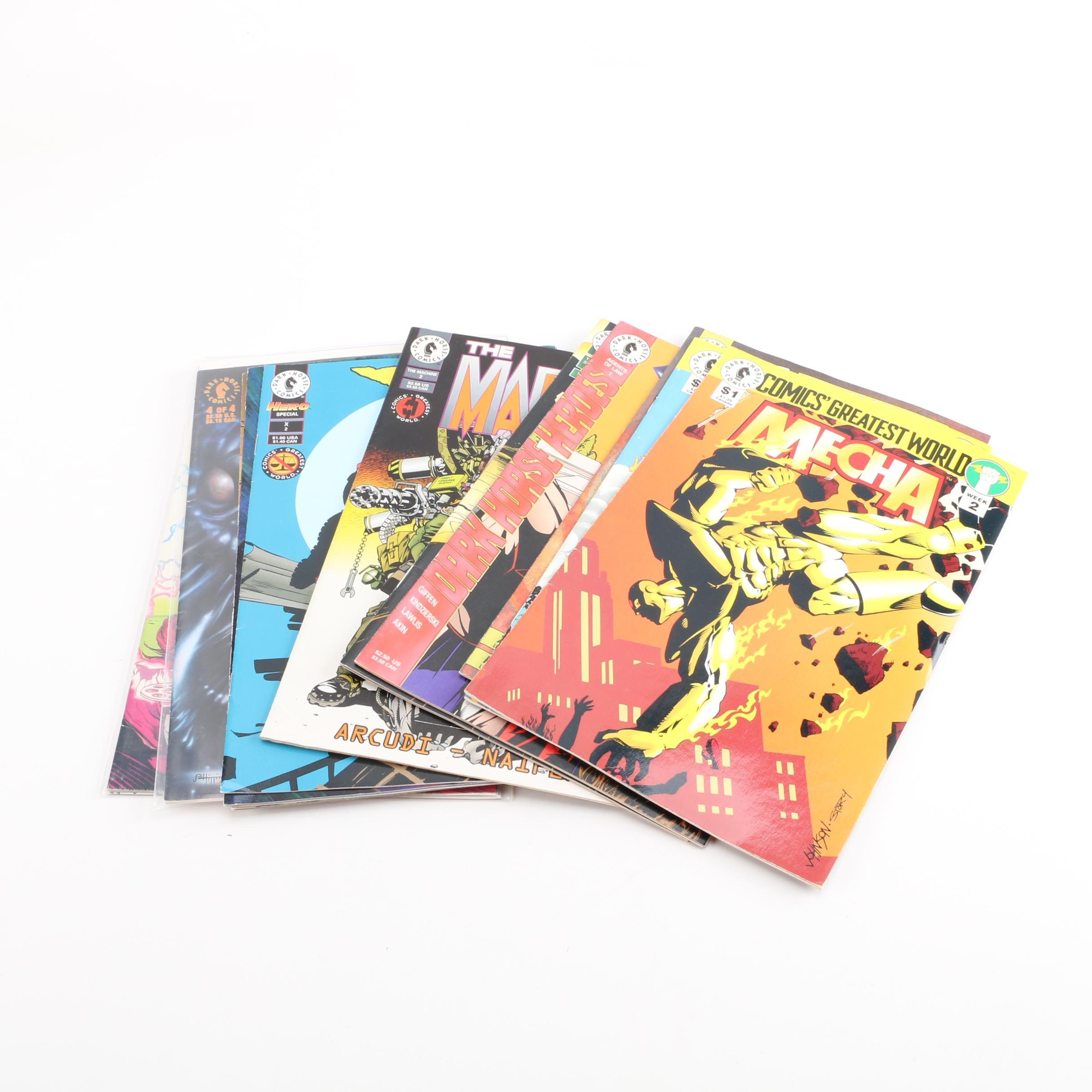 """Modern Age Dark Horse Comic Books Including """"Rebel"""" and """"Mecha"""""""