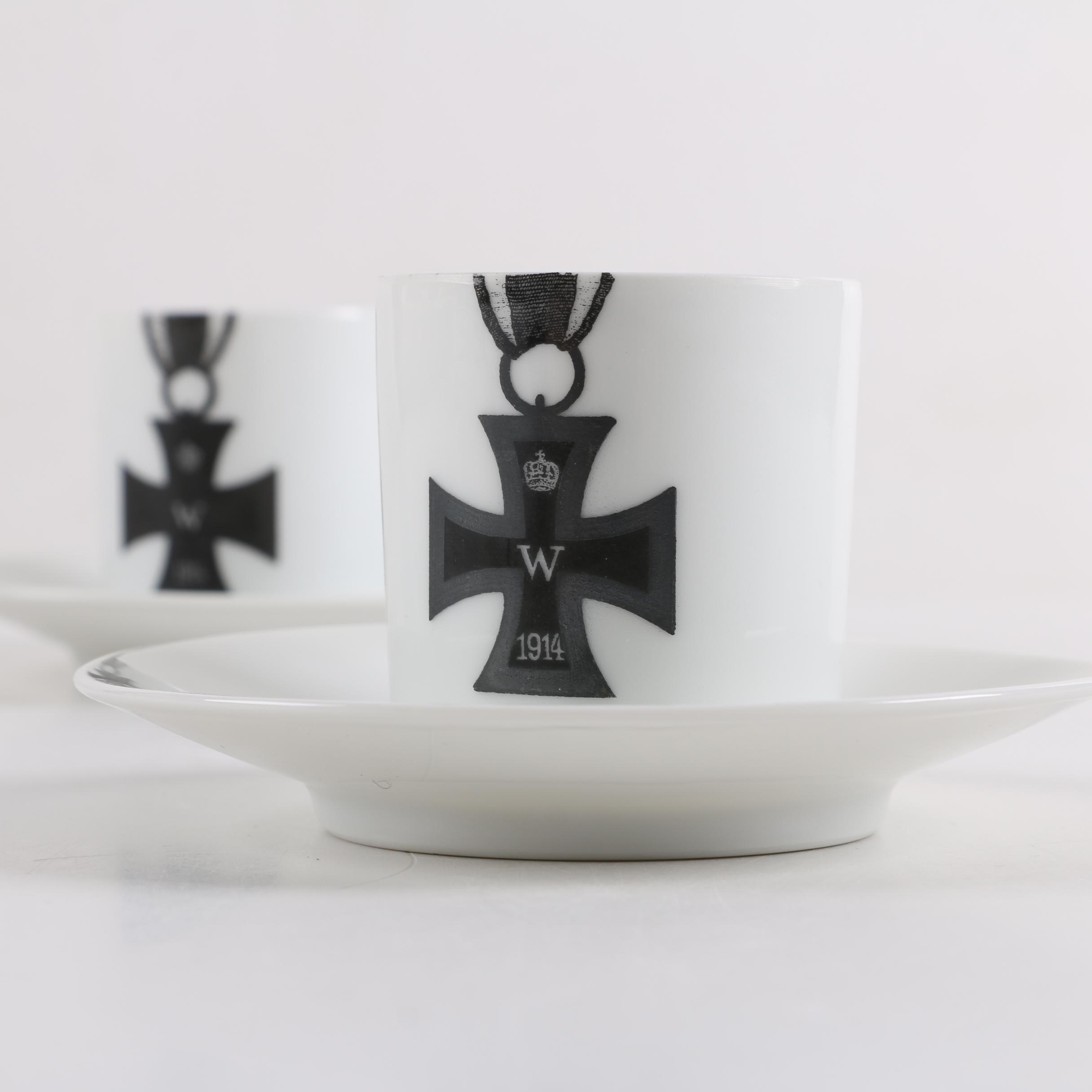 Vintage Rosenthal World War One Prussian Demitasse Cups and Saucers