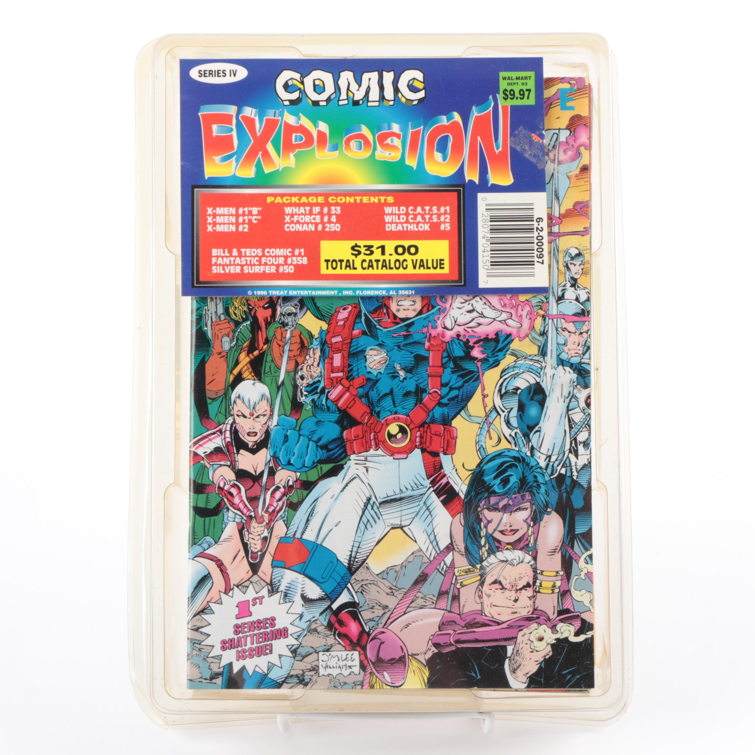 """1996 Marvel """"Comic Explosion"""" Collection Including """"X-Men"""" and """"WildC.A.T.S."""""""