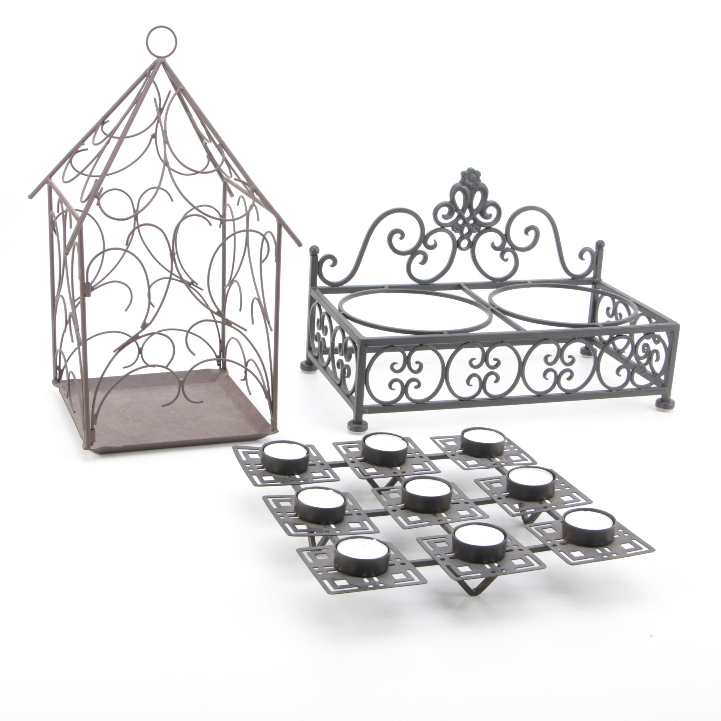 Metal Candle Holder and Metal Decor Assortment