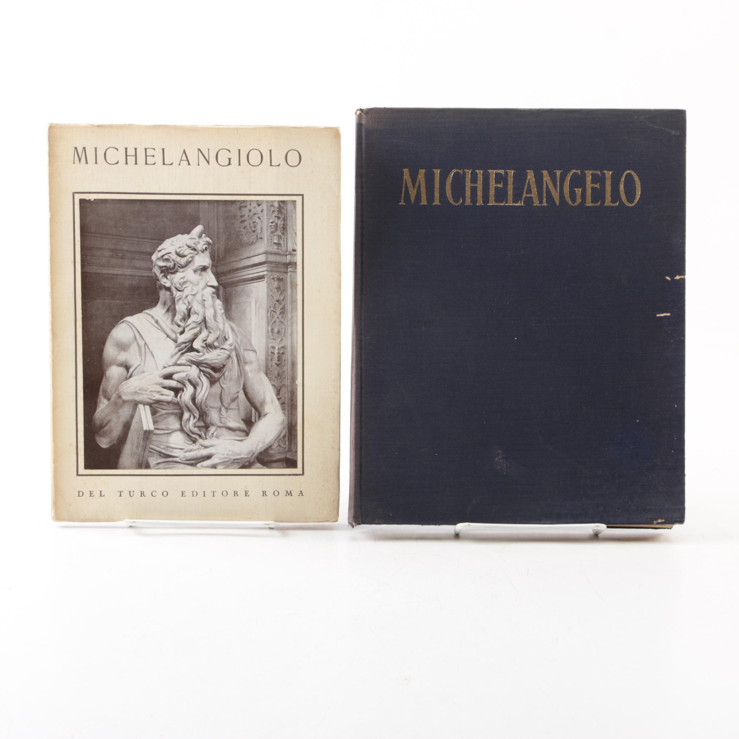 French and Italian Books on Michelangelo