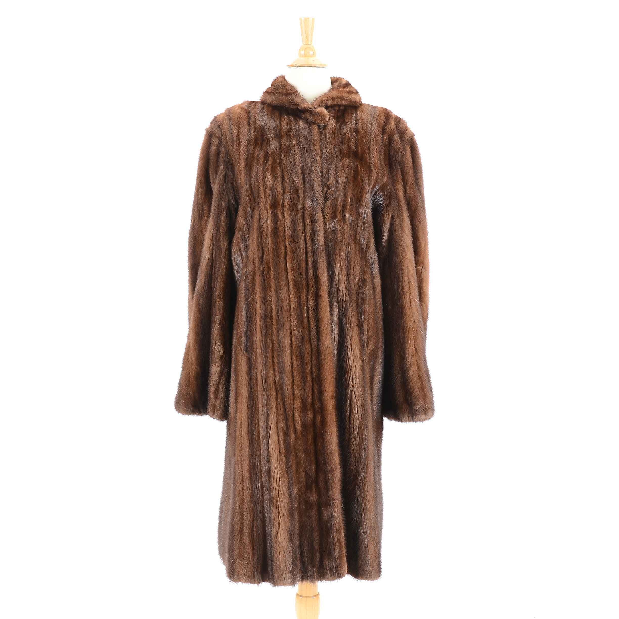 Vintage Mink Fur Swing Coat