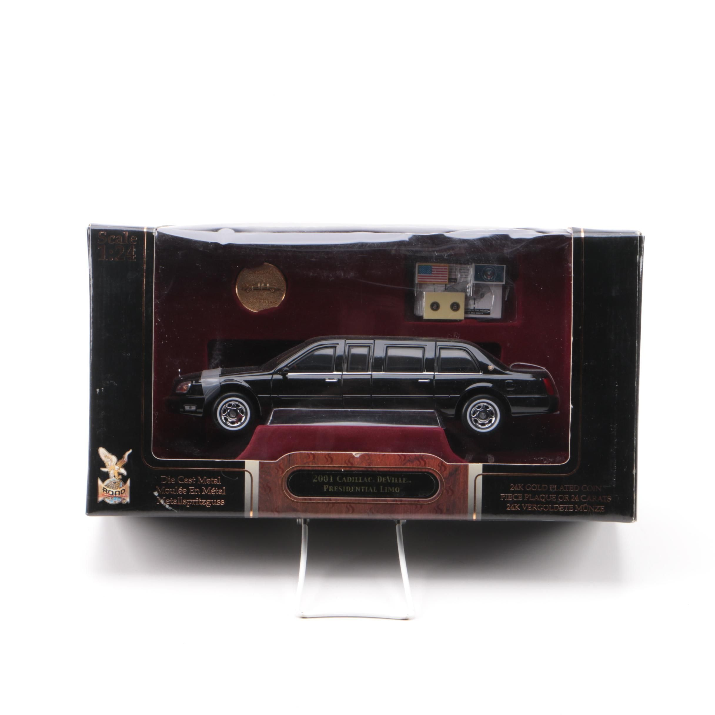 24k Gold Plated Signature Series Die-Cast Presidential Limousine