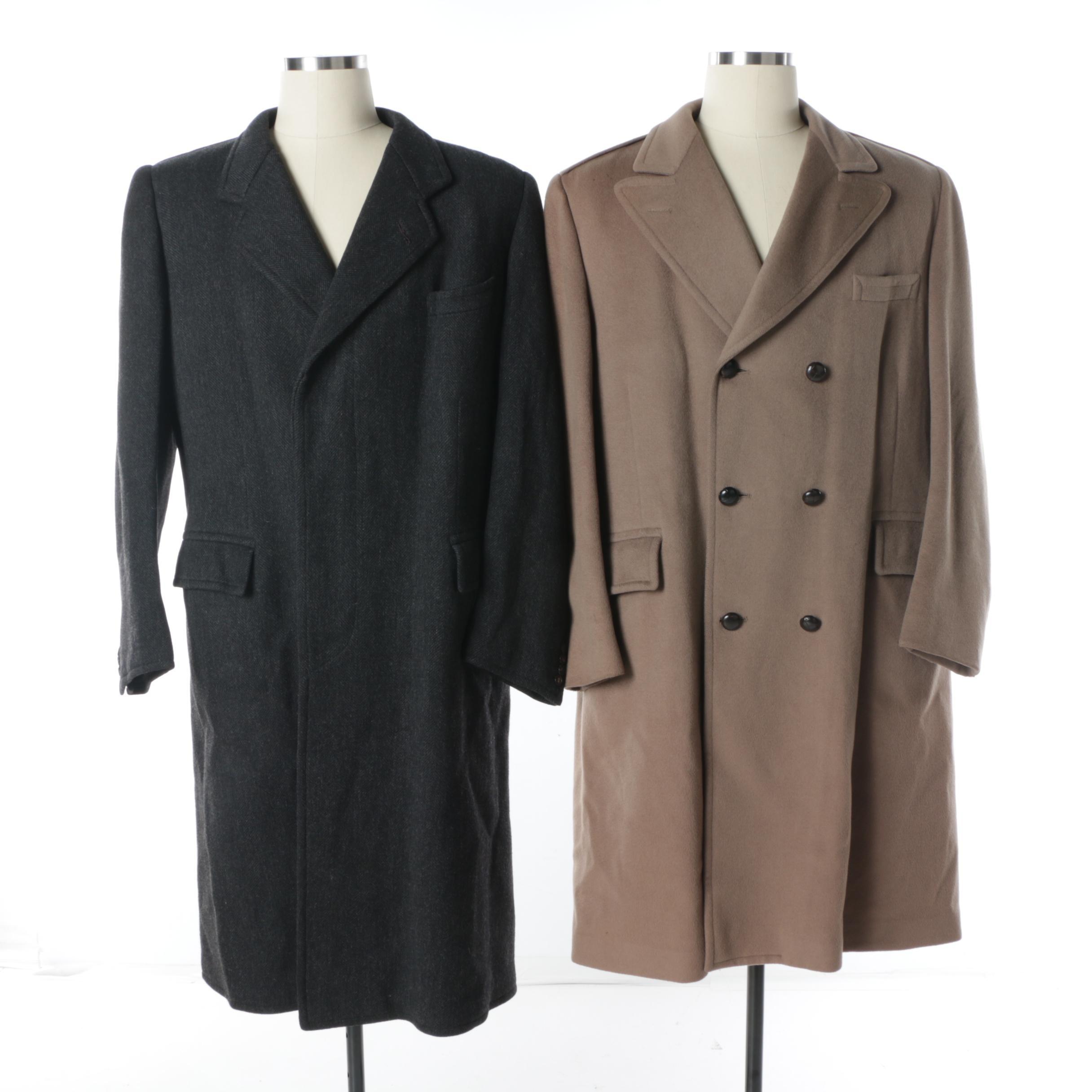 Men's Vintage Wool Overcoats Including Arthur A. Adler