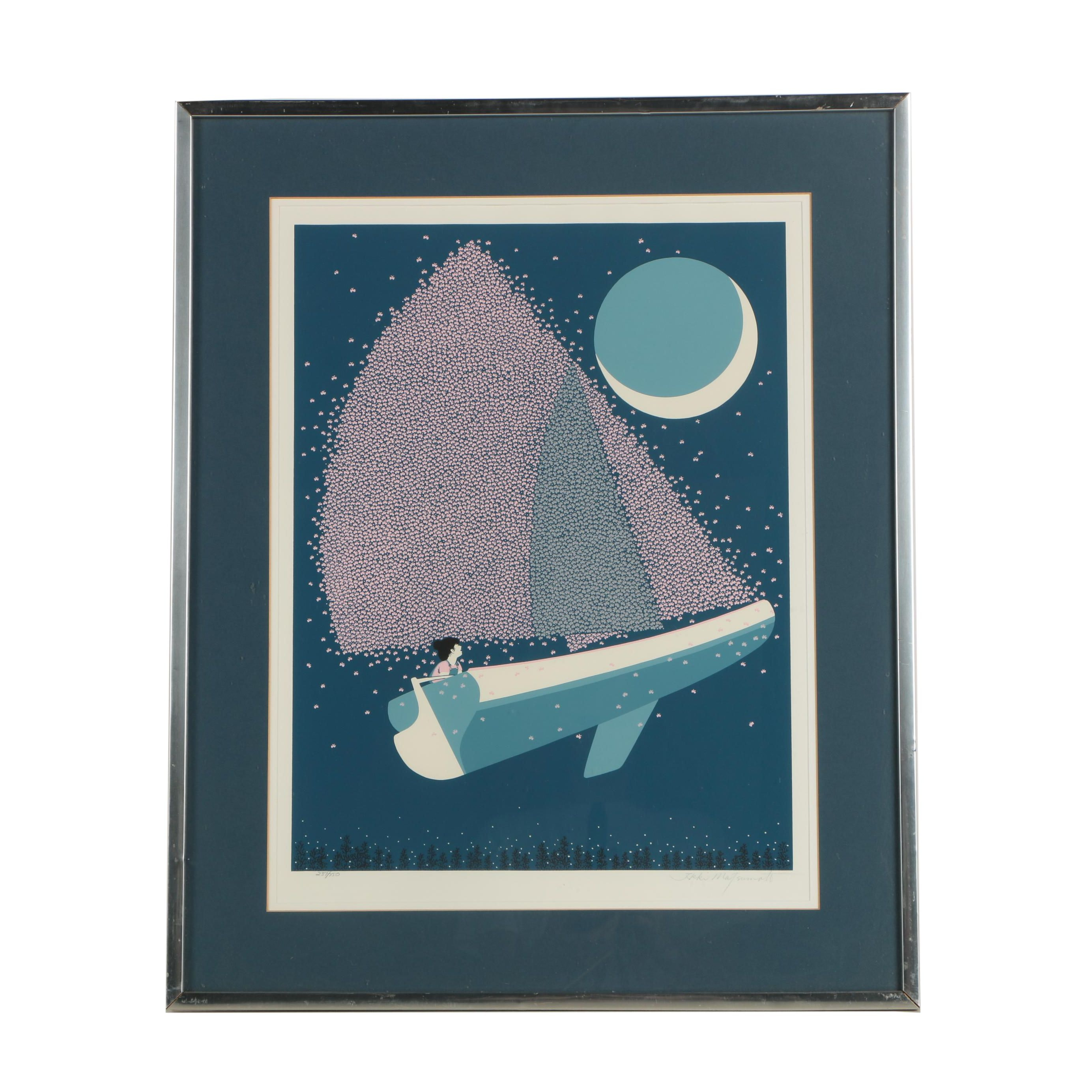 """Ikki Matsumoto Signed Seriolithograph """"Fly by Night"""""""