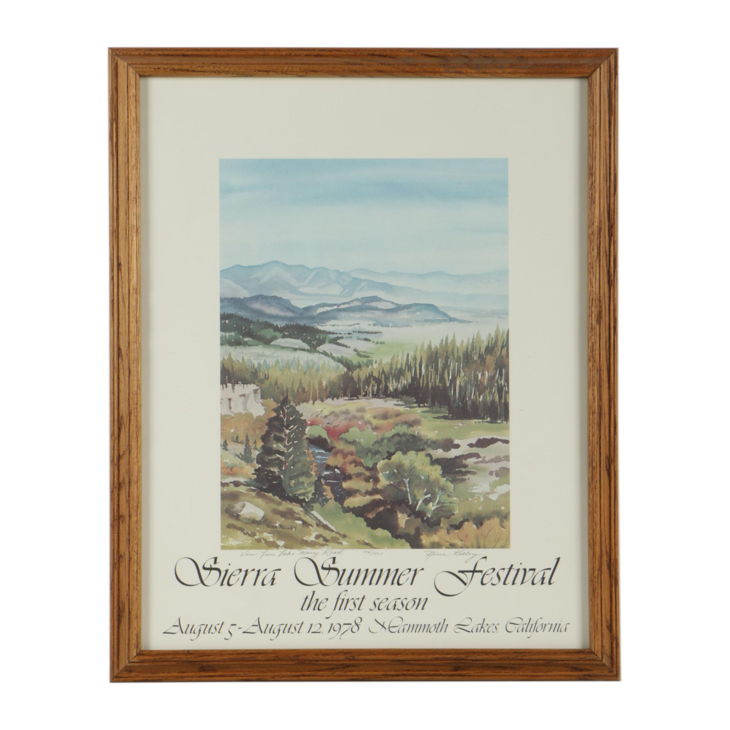 Nina Kelley Limited Edition Offset Lithograph Poster for Sierra Summer Festival