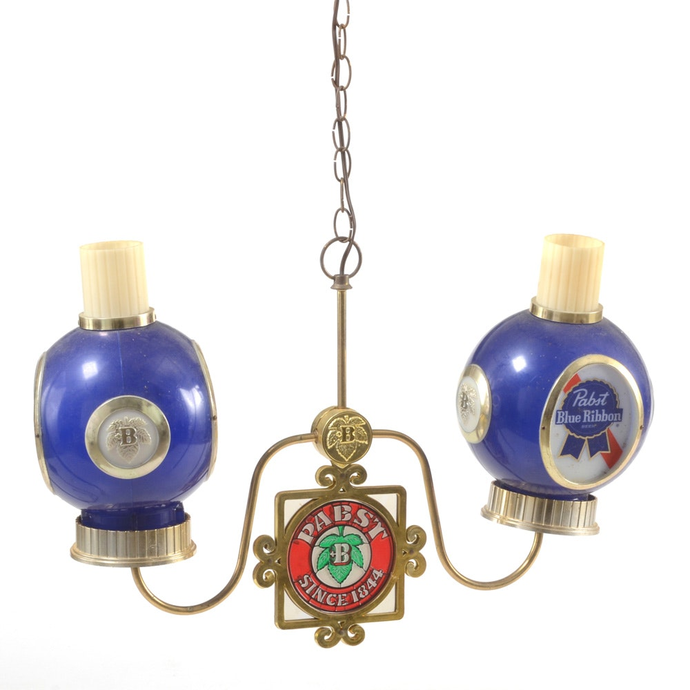Pabst Blue Ribbon Chandelier