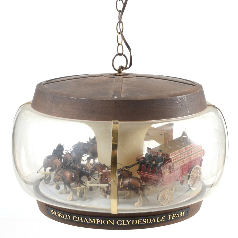 1960s Budweiser Clydesdale Carousel Light