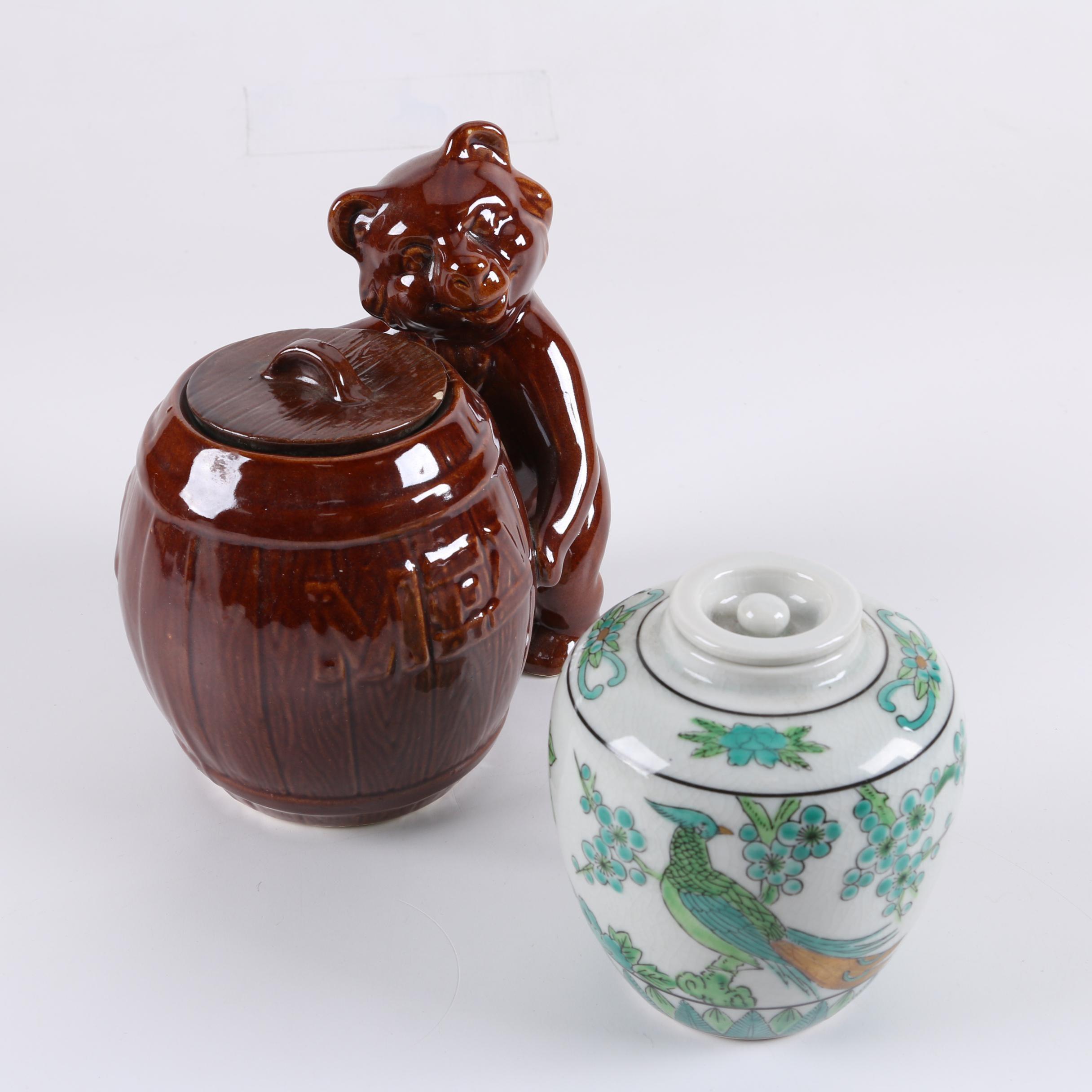Decorative Lidded Ceramic Jars