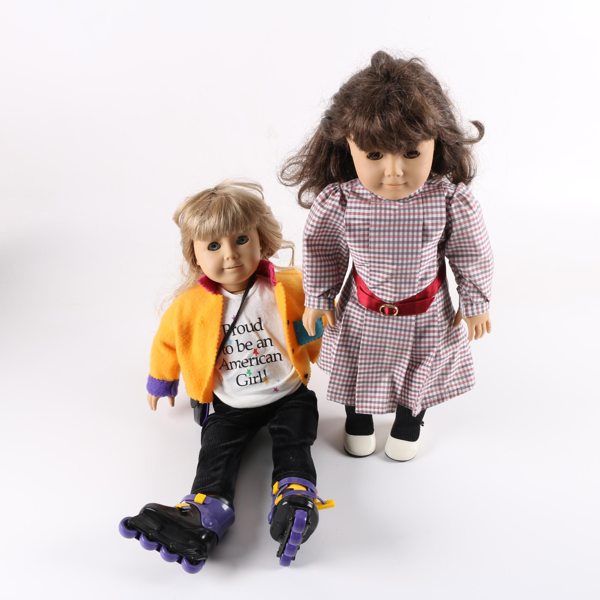 "Vintage American Girl ""Samantha"" and ""Girl of Today"" Dolls"