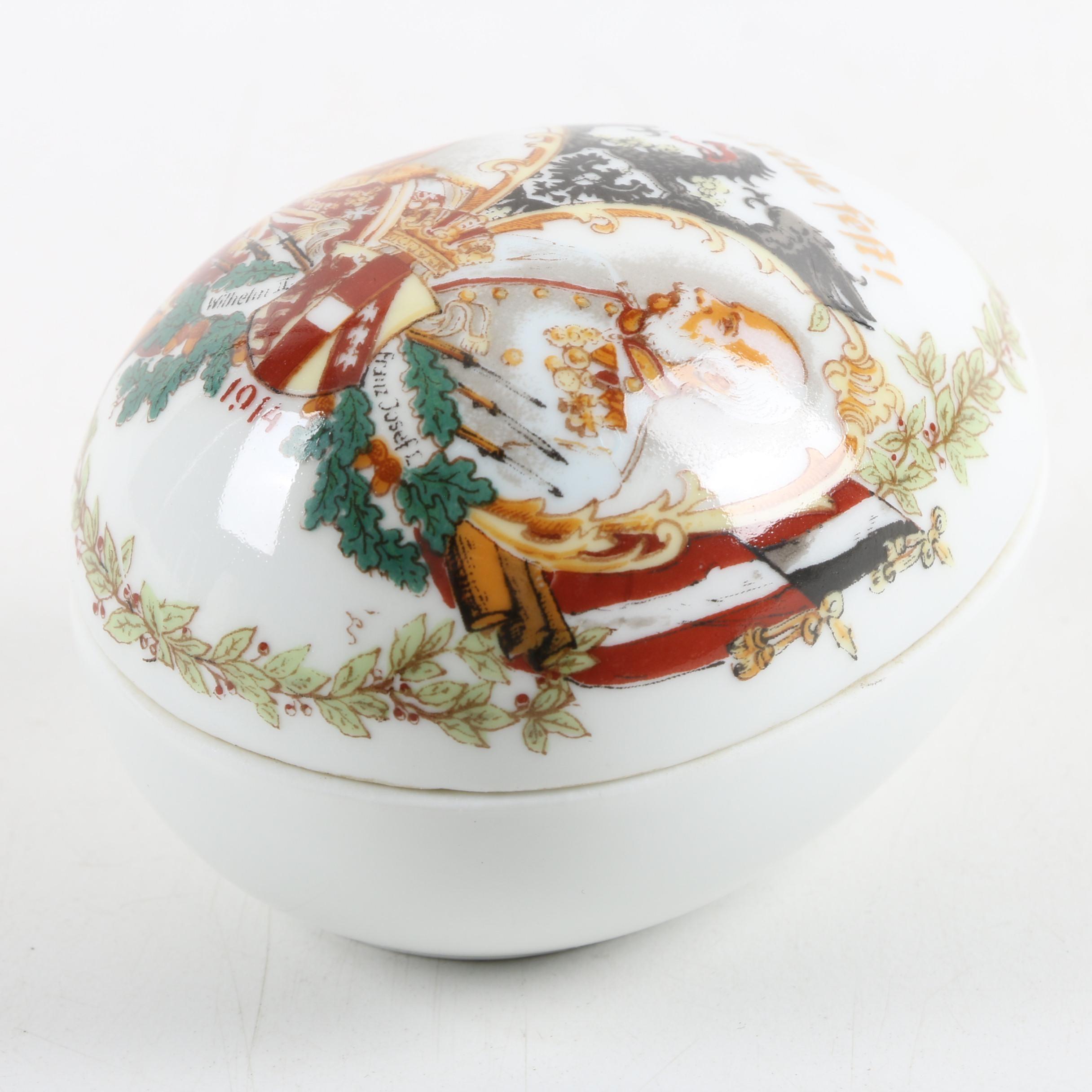Antique 1914 Porcelain German Trinket Box