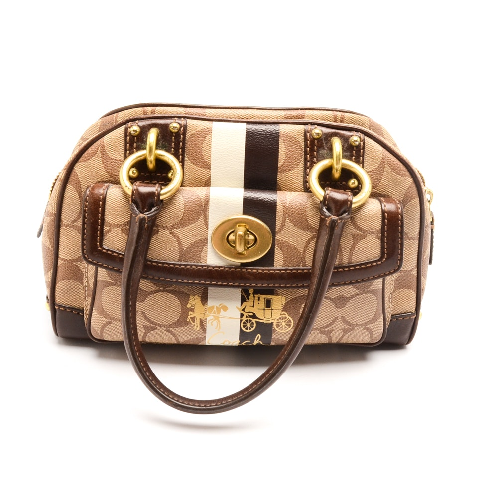 Coach Heritage Dome Satchel