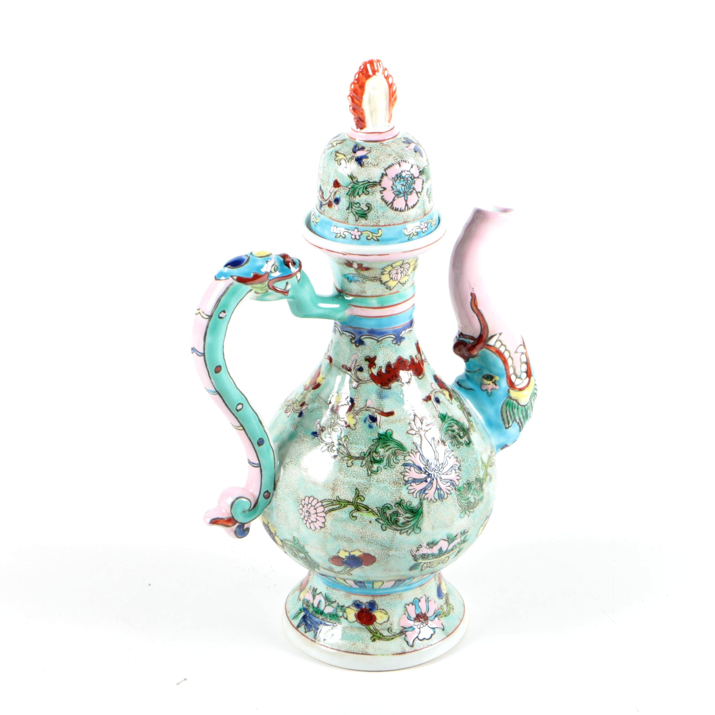 Chinese Colorful Ceramic Teapot