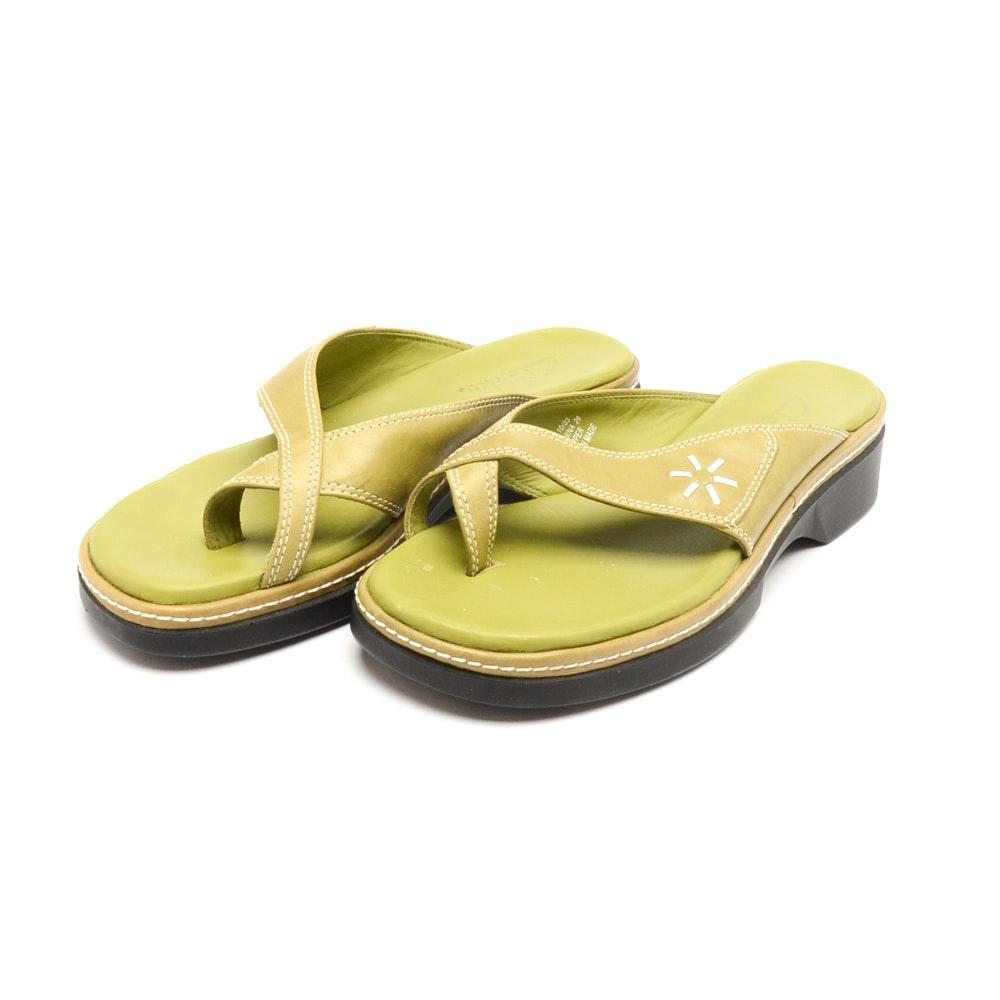 Women's Clarks Green Sandals