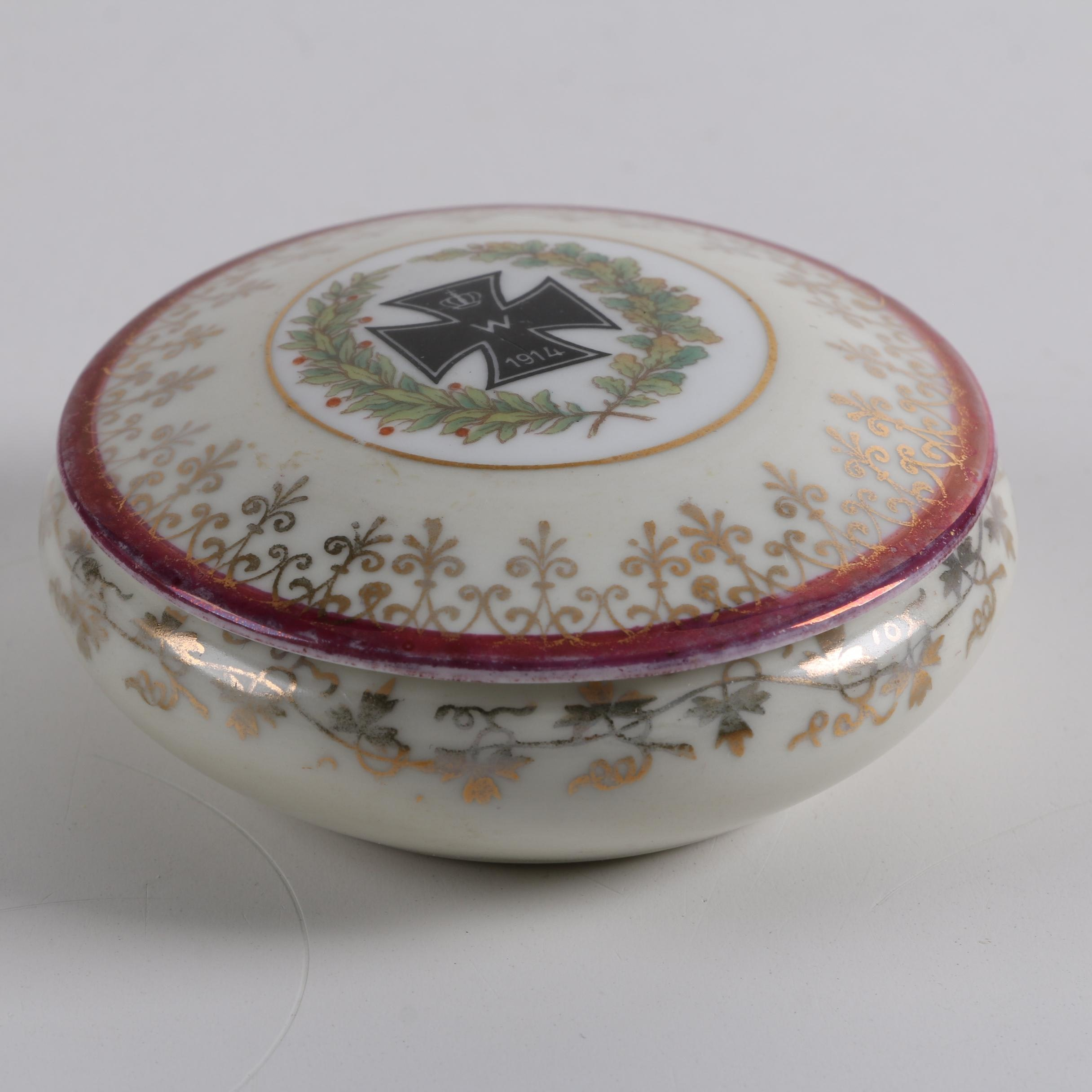 World War One 1914 Porcelain Trinket Box