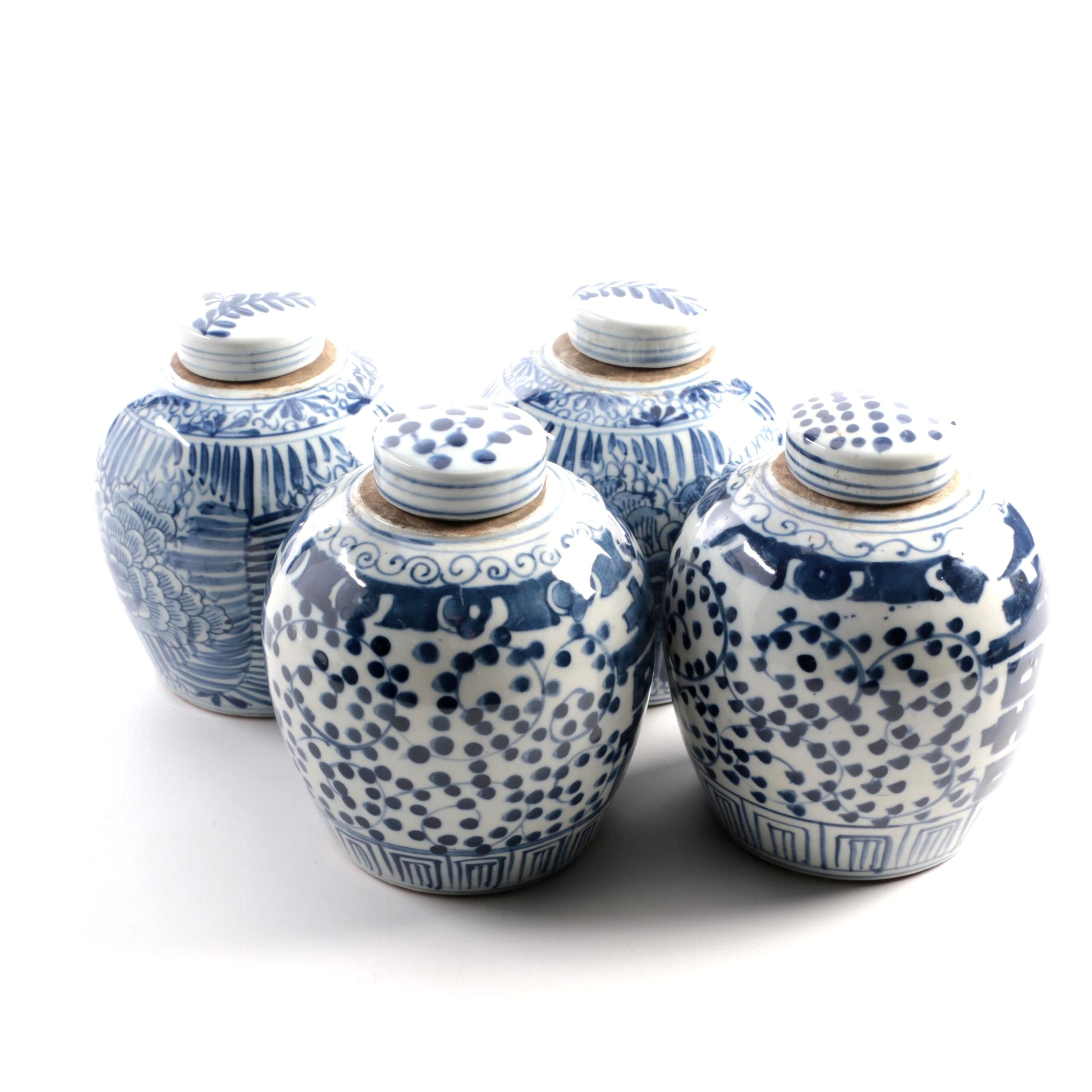 Chinese Blue and White Ceramic Vases