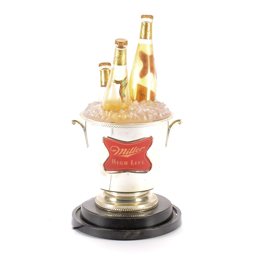 Miller Champagne Rotating Beer Sign