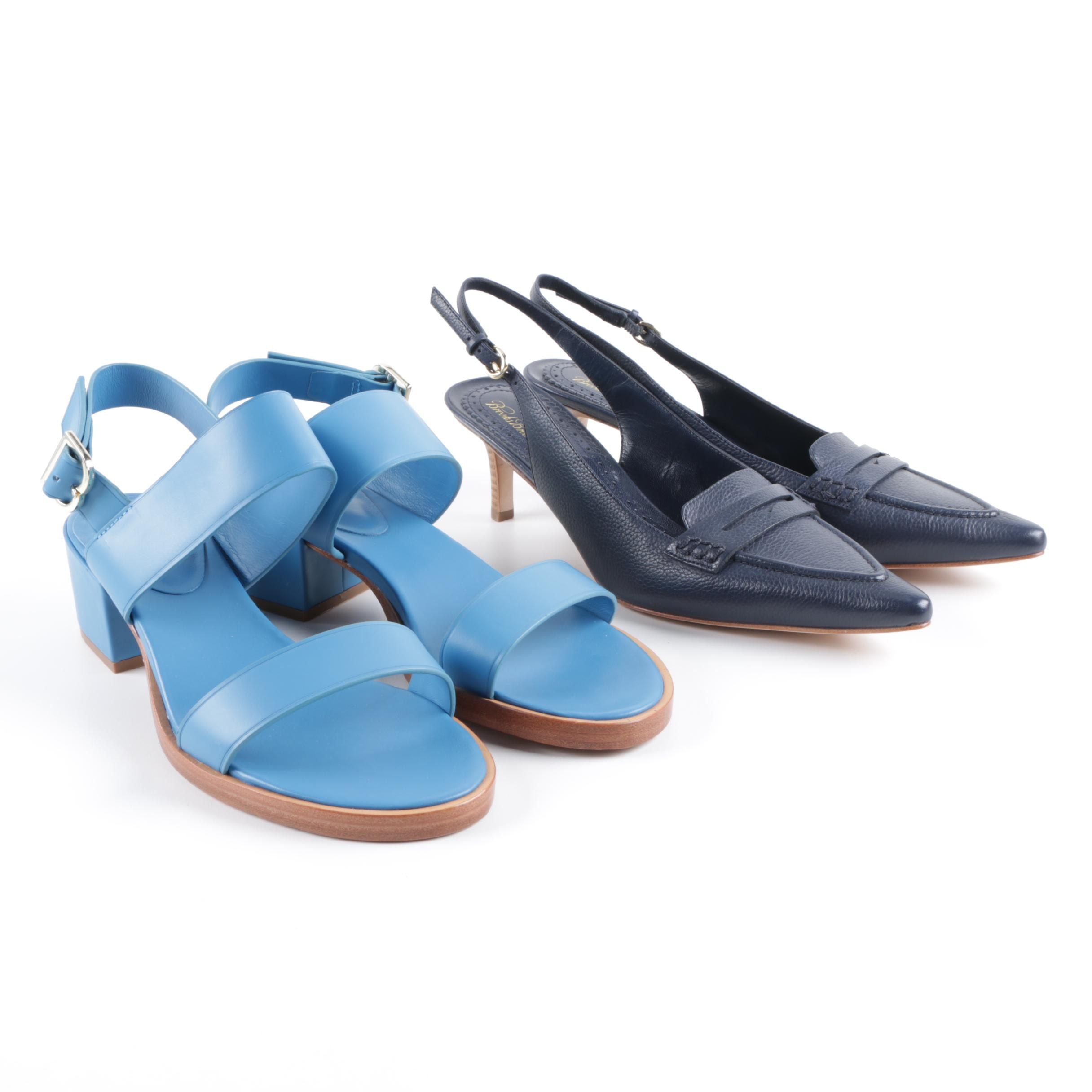 Women's Brooks Brothers Leather Slingbacks and Sandals