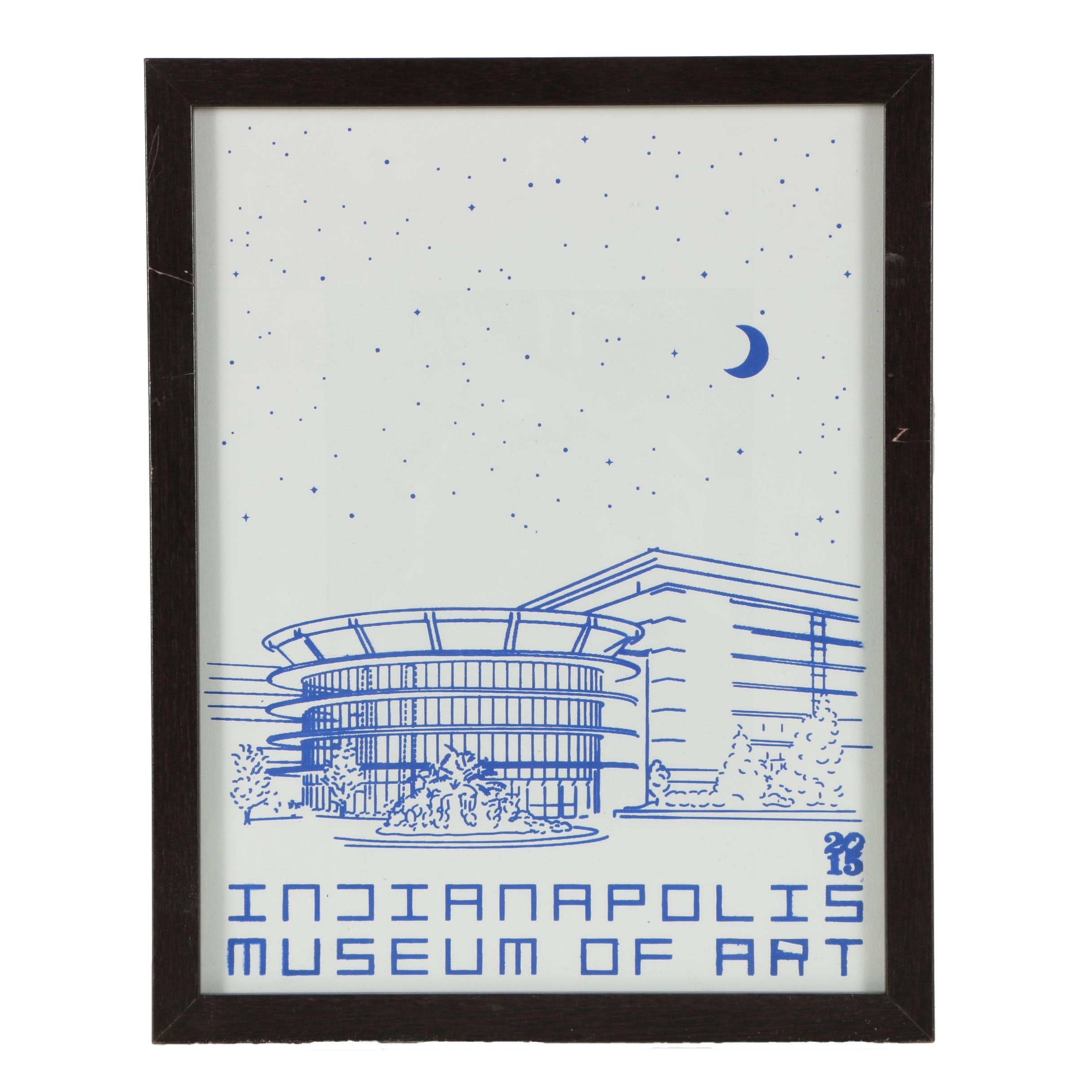 "2015 Serigraph ""Indianapolis Museum of Art"""