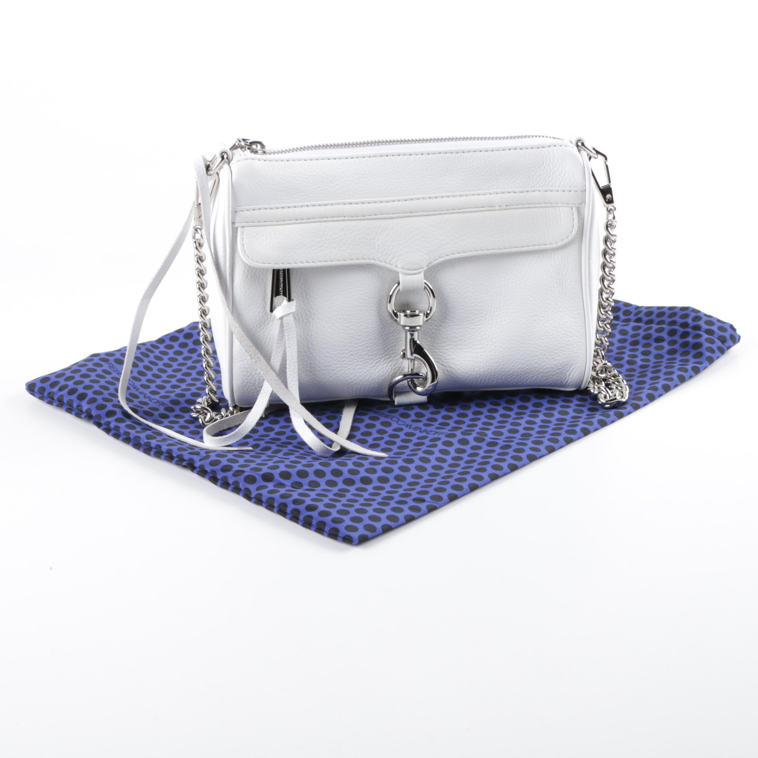 Rebecca Minkoff Mini M.A.C. White Leather Shoulder Bag