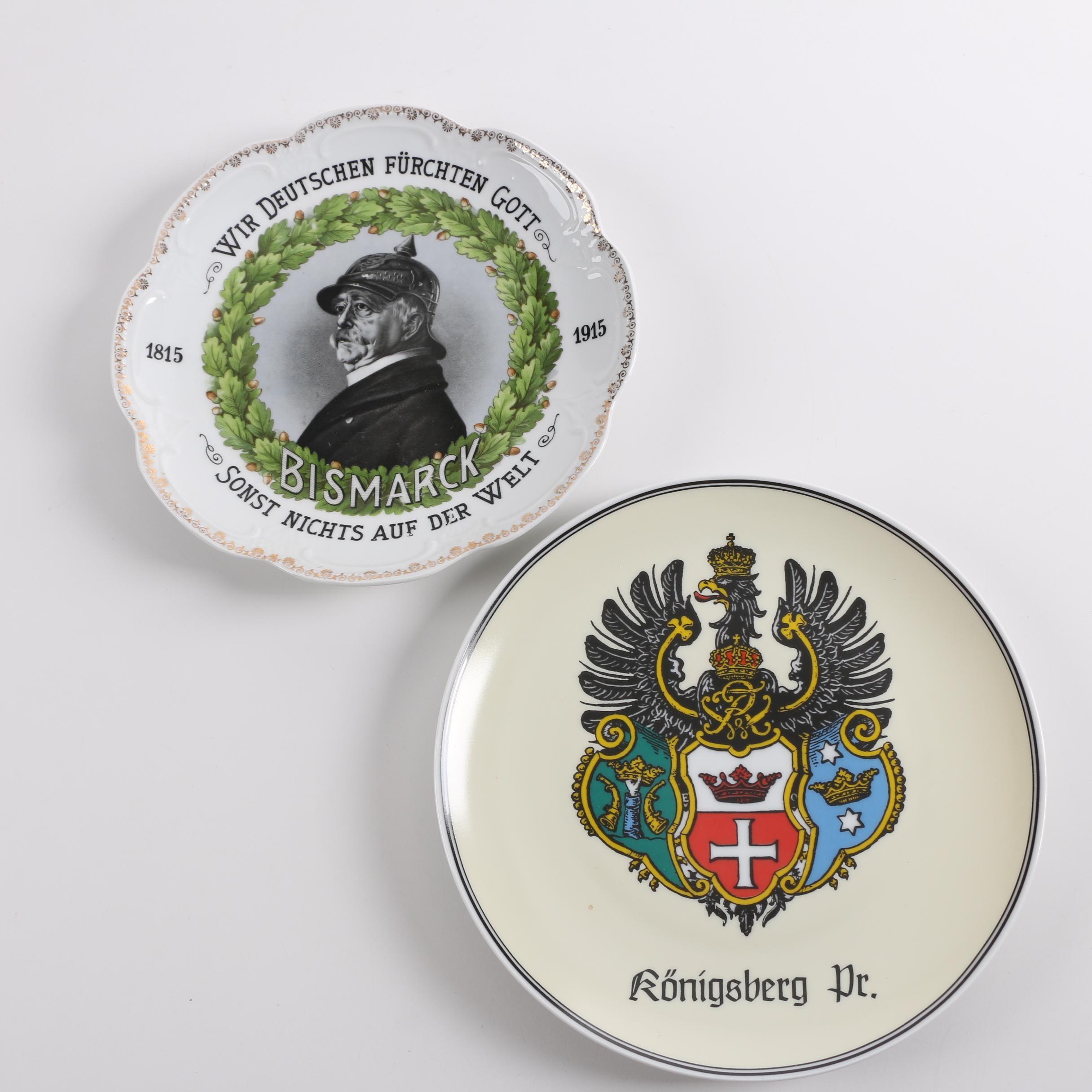 German Porcelain Plates Featuring Goebel