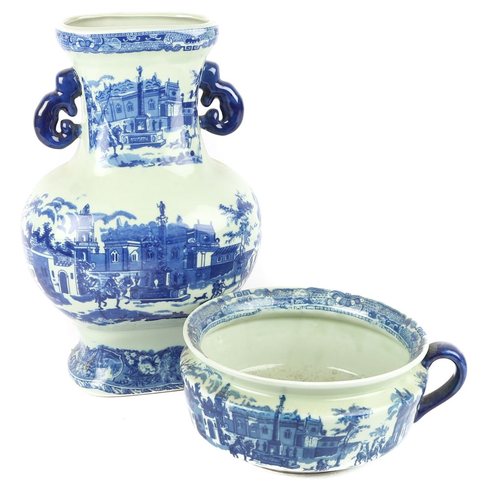 Chinese Porcelain Transferware Vessels