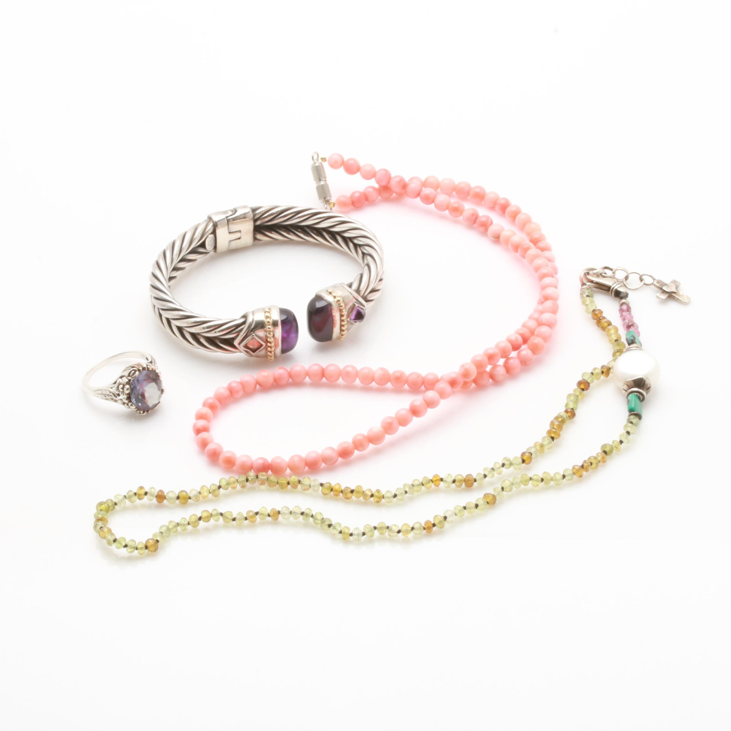 Assorted Sterling Silver Gemstone Jewelry