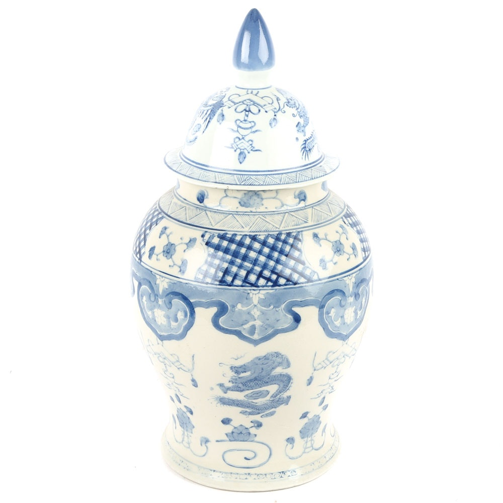 Chinese Ceramic Covered Urn