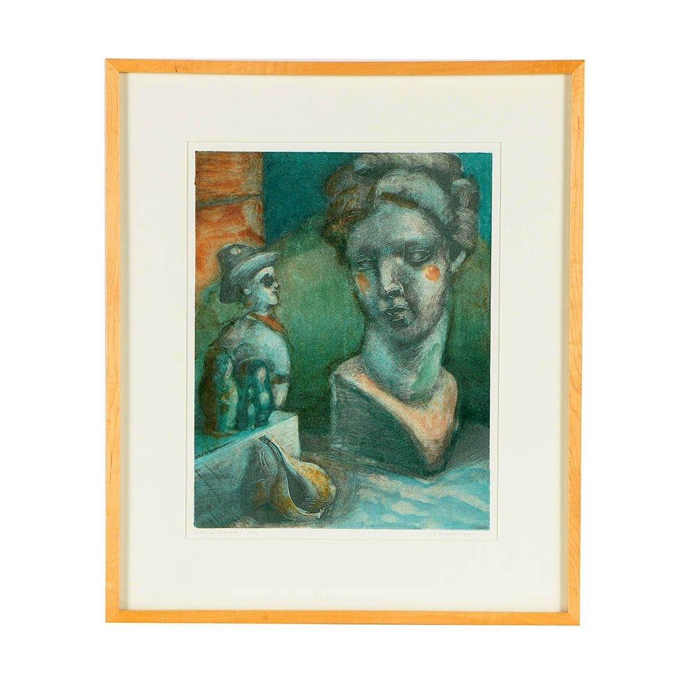 """C.M. Wirth Color Lithograph """"Cross-Cultural"""""""
