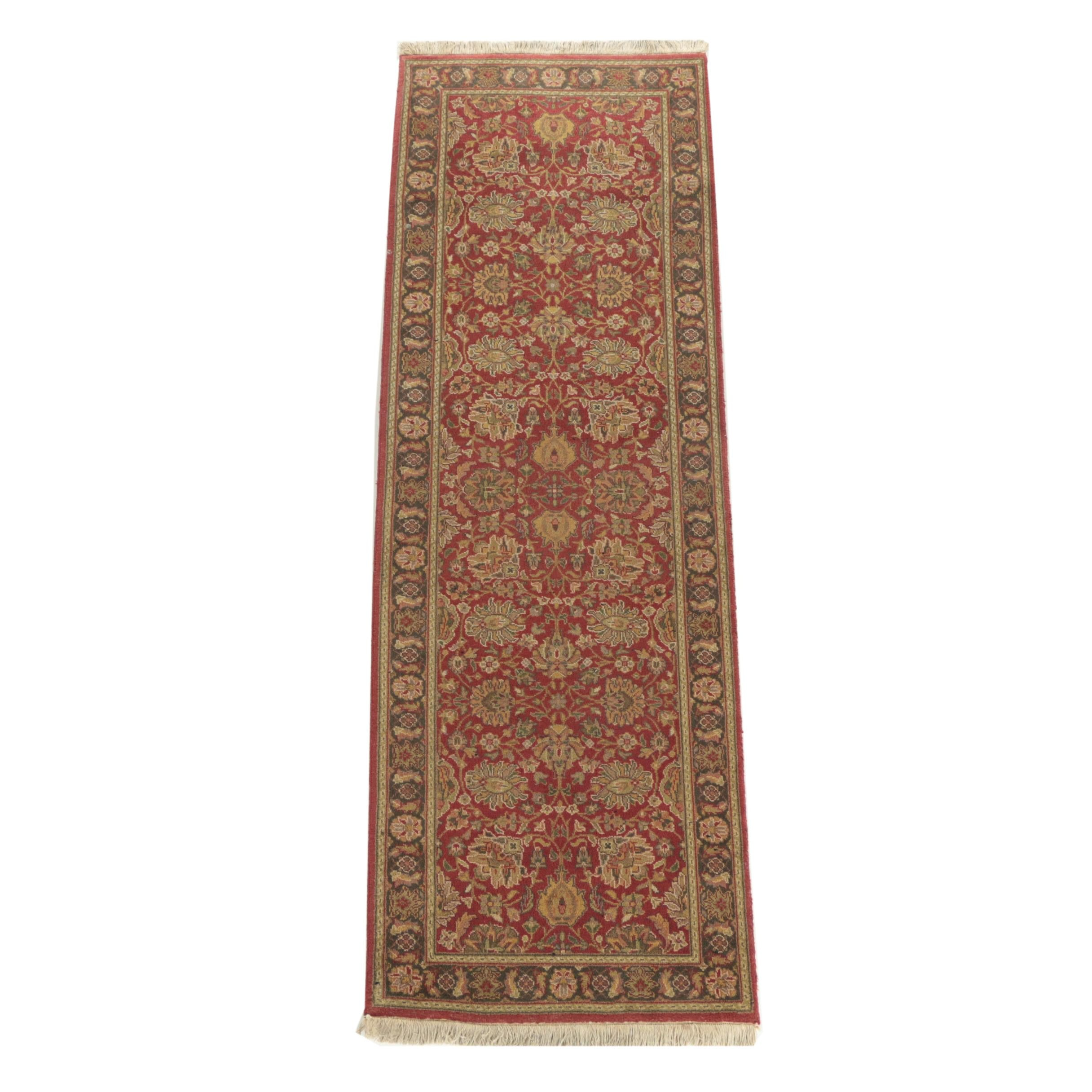 "Hand-Knotted Indo-Persian ""Bradford"" Carpet Runner"