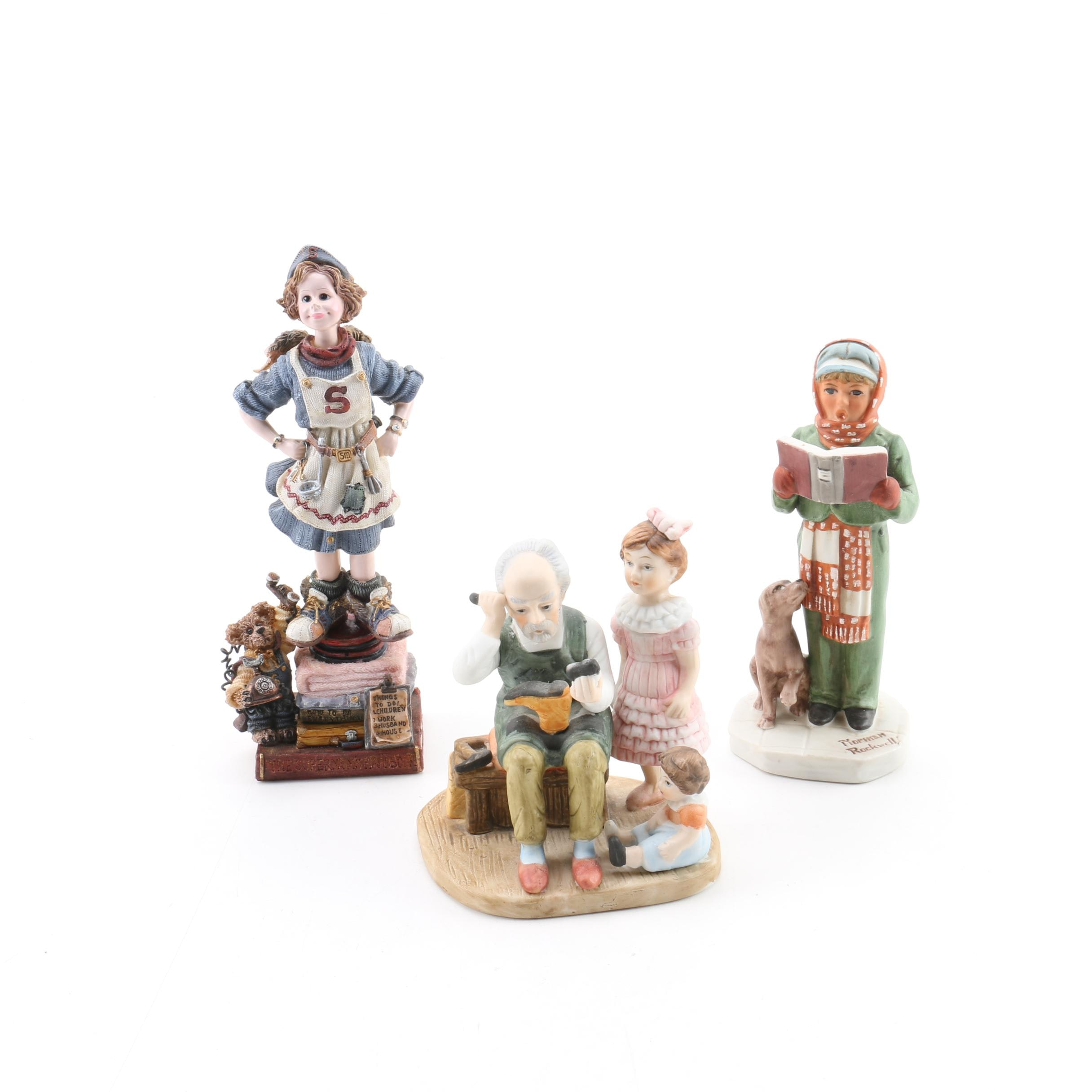 "Porcelain and Ceramic Figurines Including ""The Cobbler"" by Royal Heritage"
