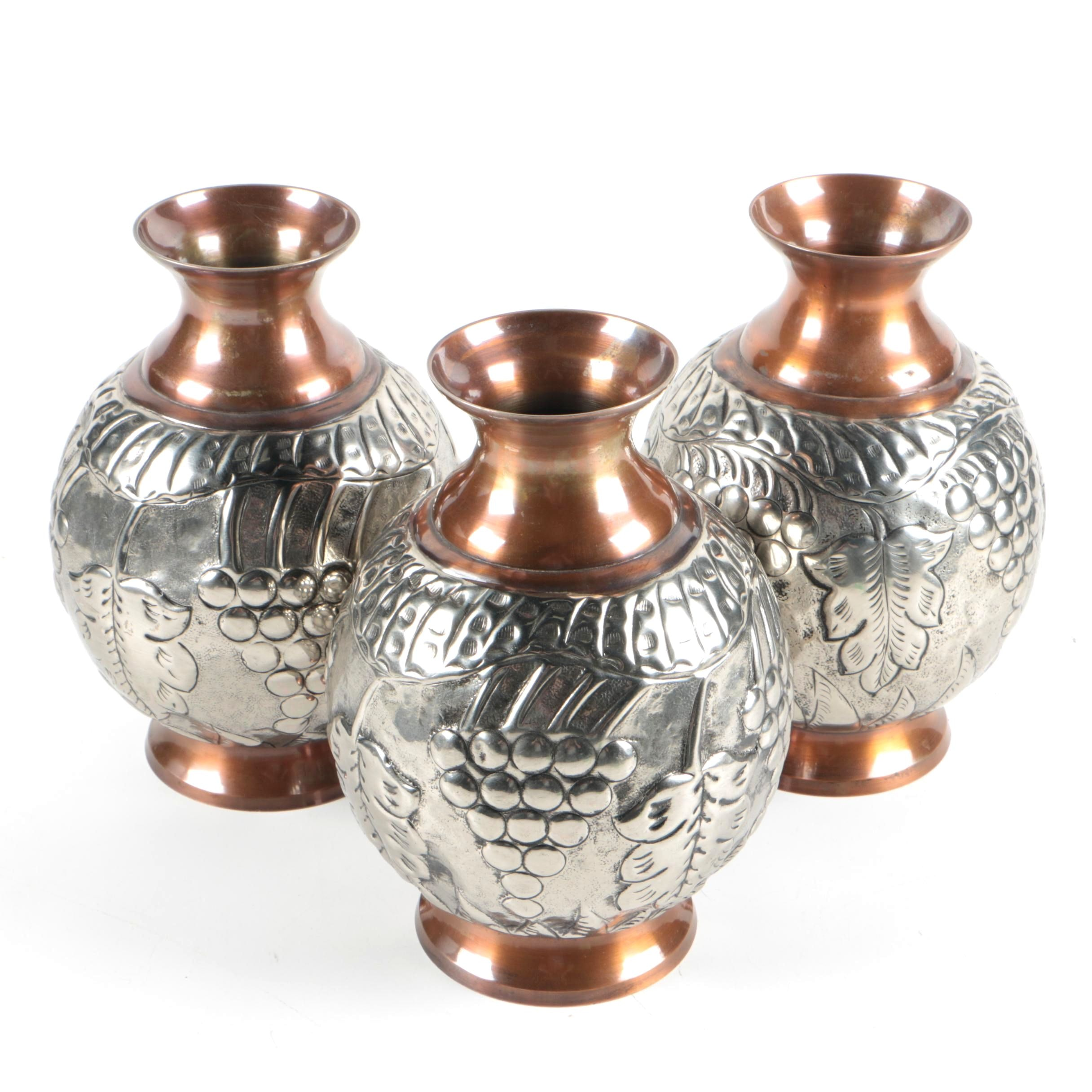 Copper and Metal Vases
