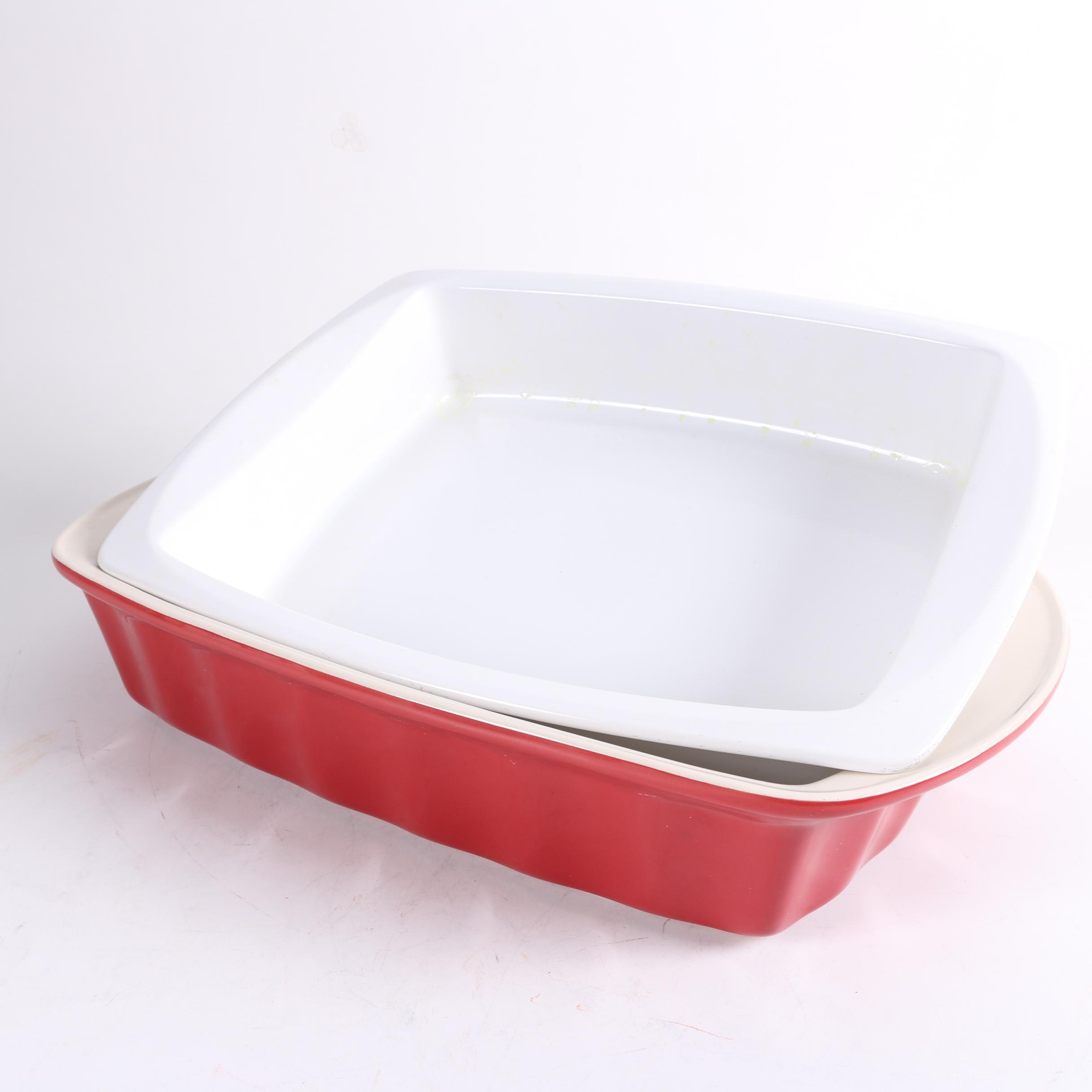 Red Good Cook Stoneware and White Vista Alegre Cook & Serve Baking Dishes