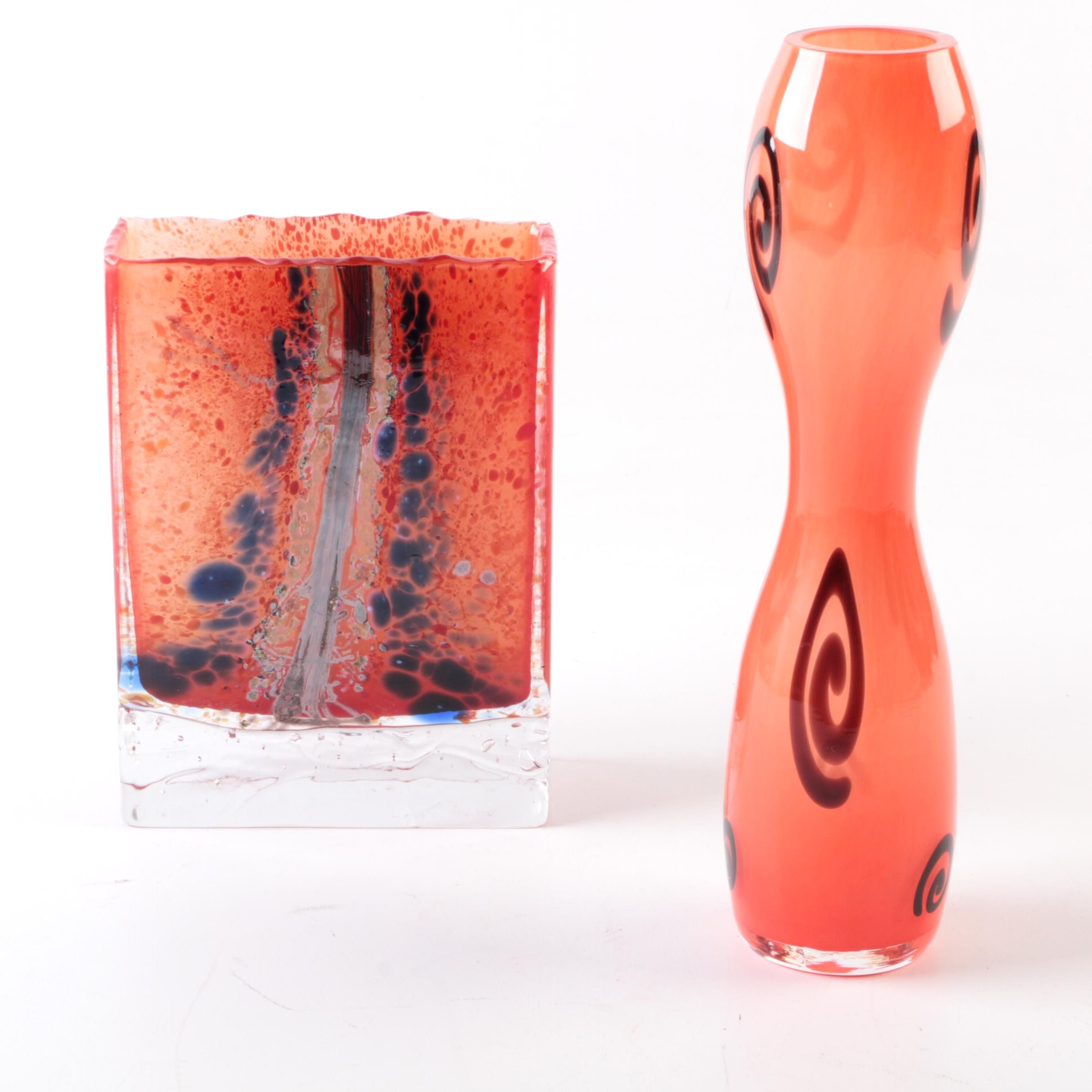 Contemporary Art Glass Vases