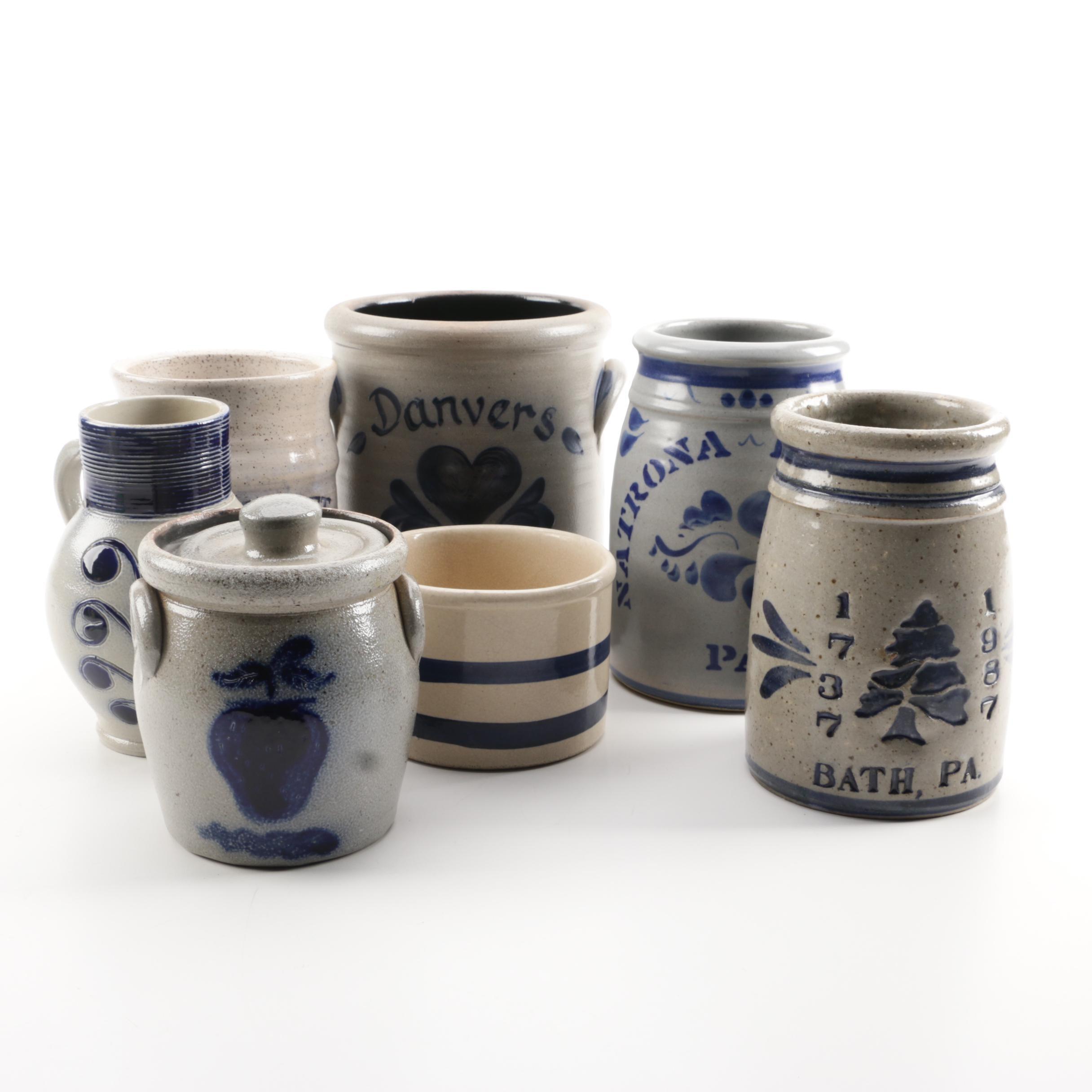 Stoneware Vases, Vessels, Canisters Including Roseville