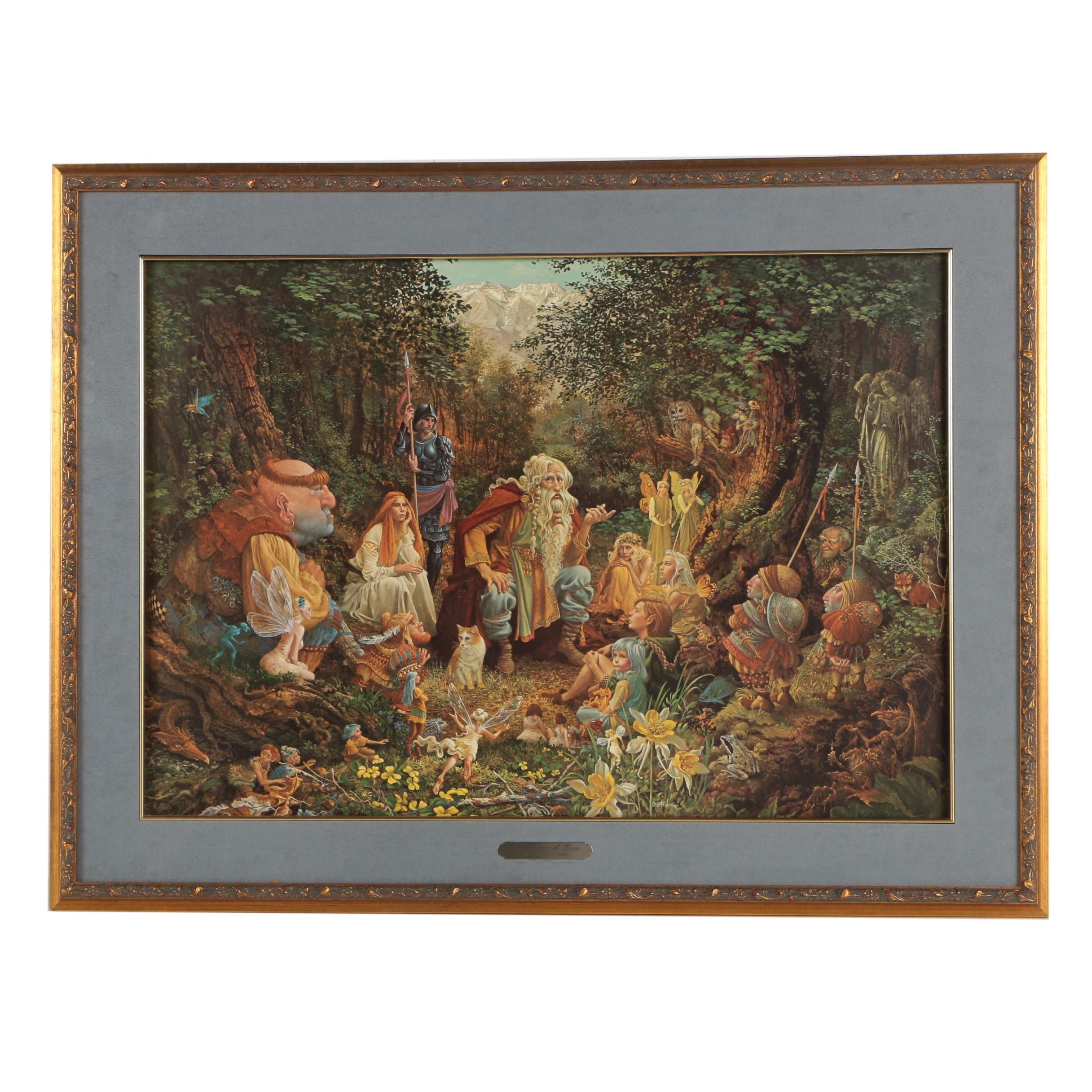 "James C. Christensen Limited Edition Offset Lithograph ""Once Upon a Time"""