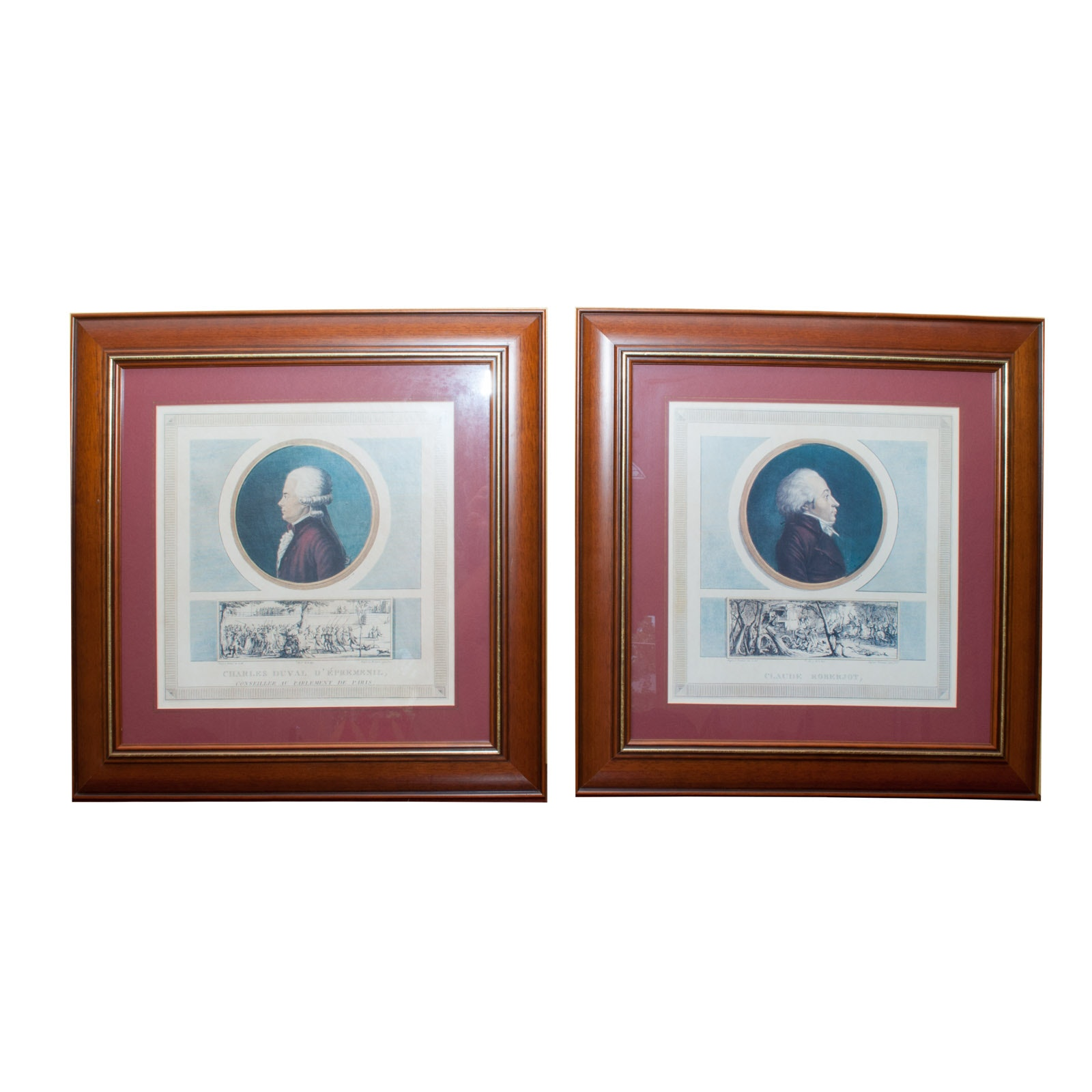 Offset Lithographs After 18th Century Colored Engravings