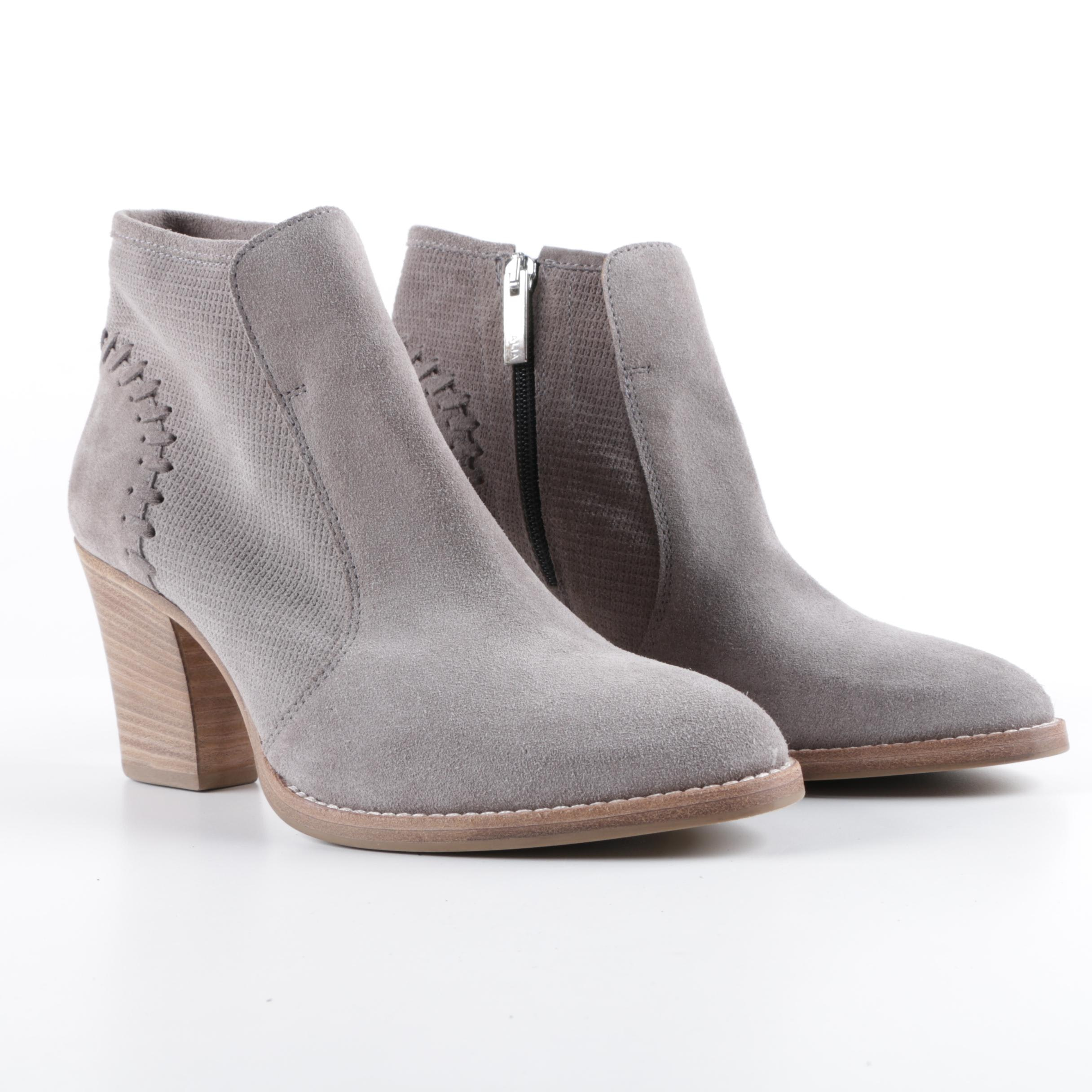 Aquatalia Grey Suede Ankle Boots