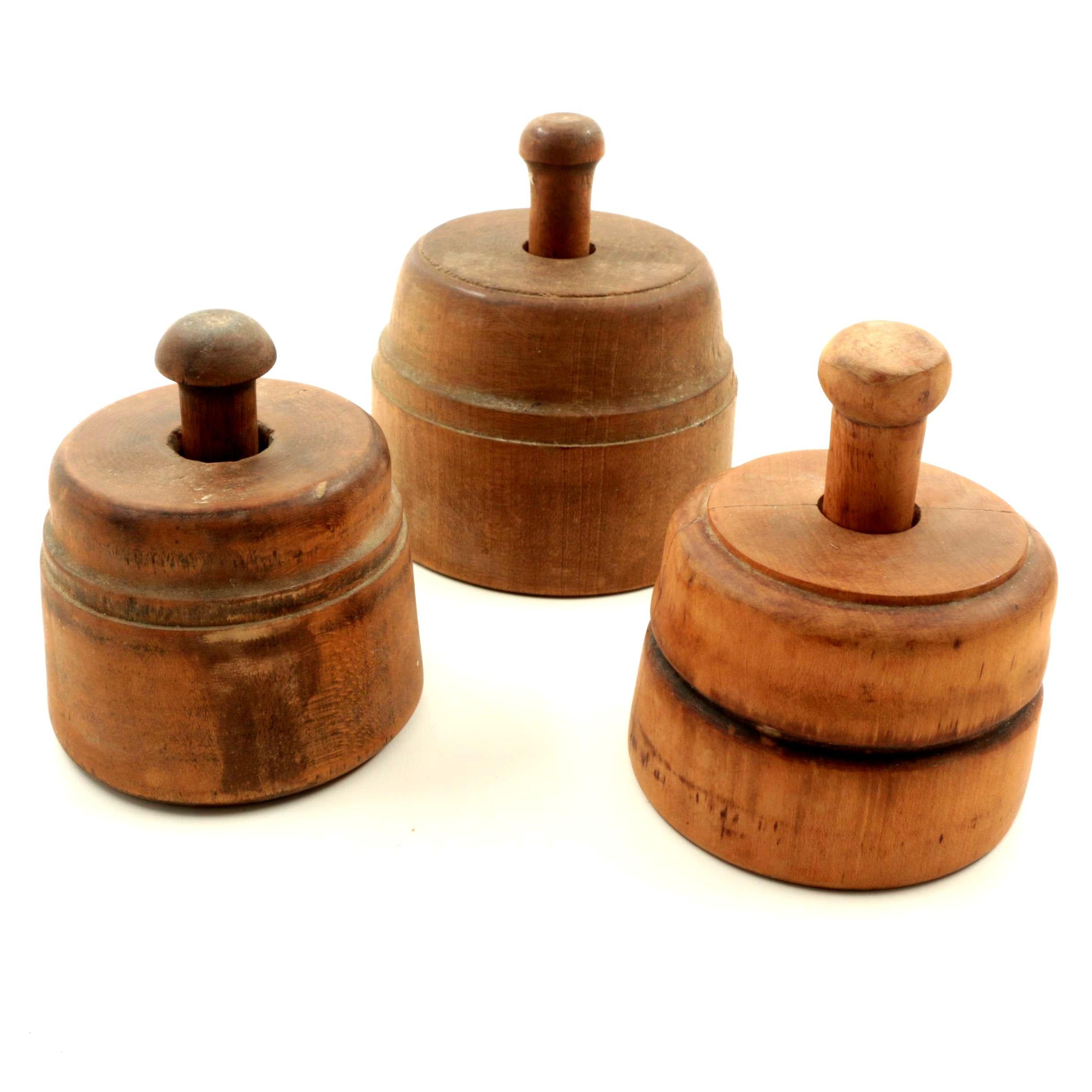 Antique Wooden Butter Molds