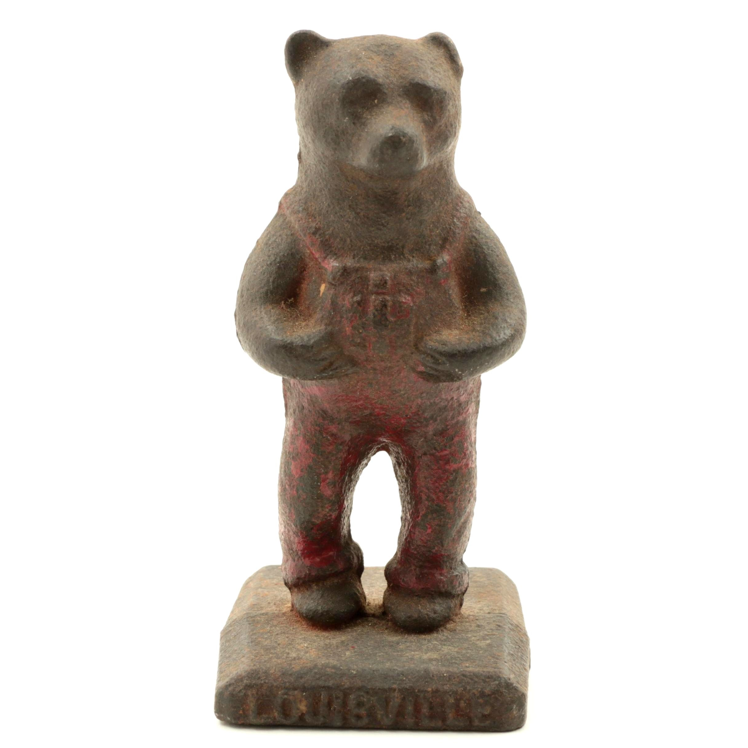 Louisville International Harvester Cast Iron Bear Figurine