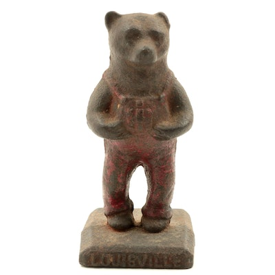 Louisville International Harvester Cast Iron Bear Figurine