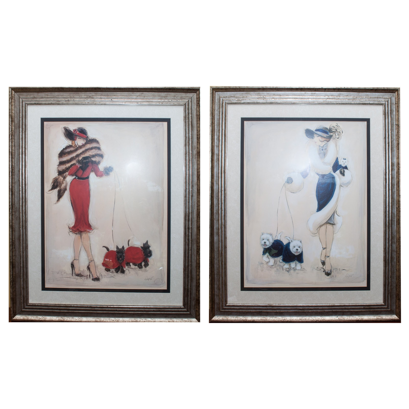 "Karen Dupré Offset Lithographs ""Wild Westies III"" and ""Scottish Terriers"""