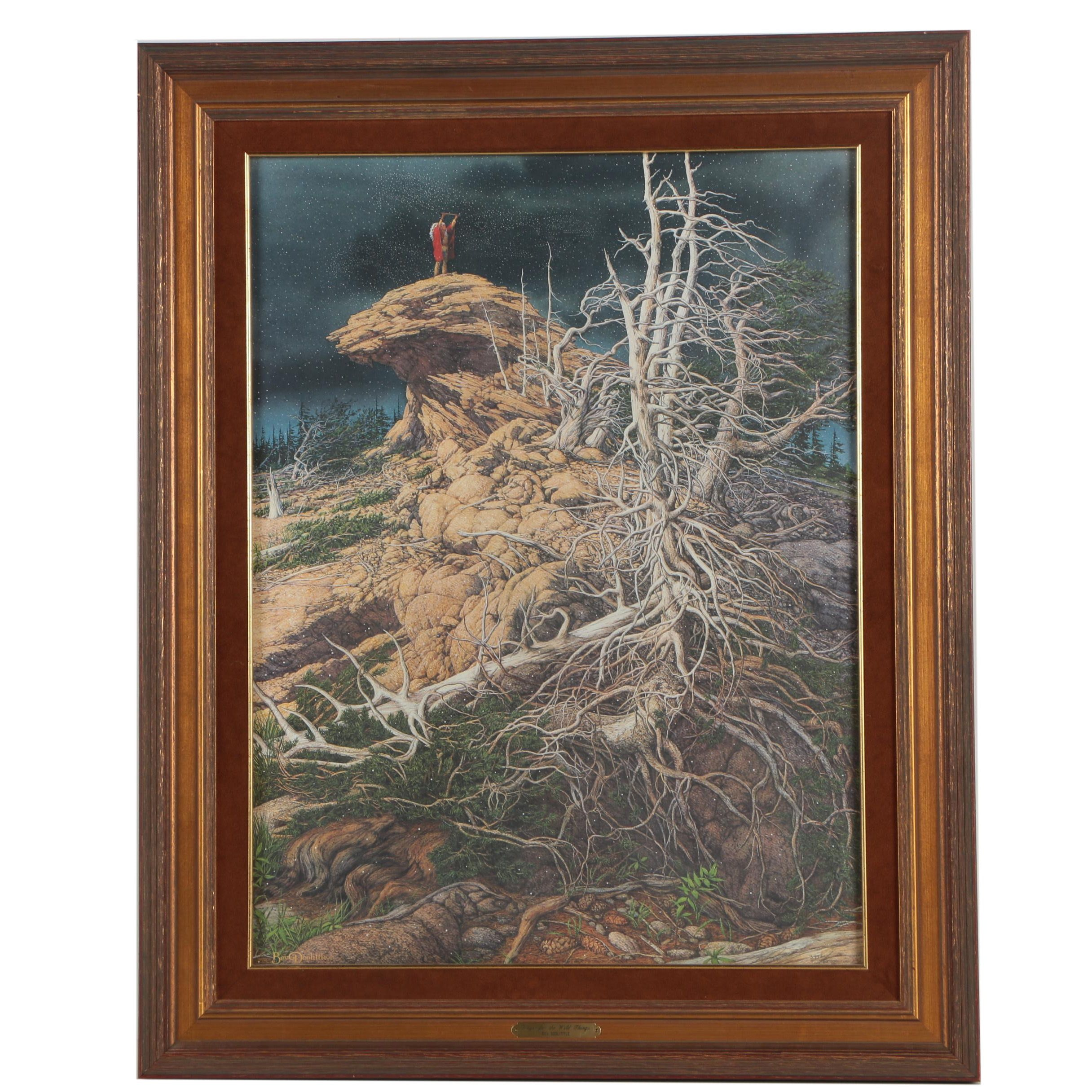 "Bev Doolittle Limited Edition Offset Lithograph ""Prayer for the Wild Things"""