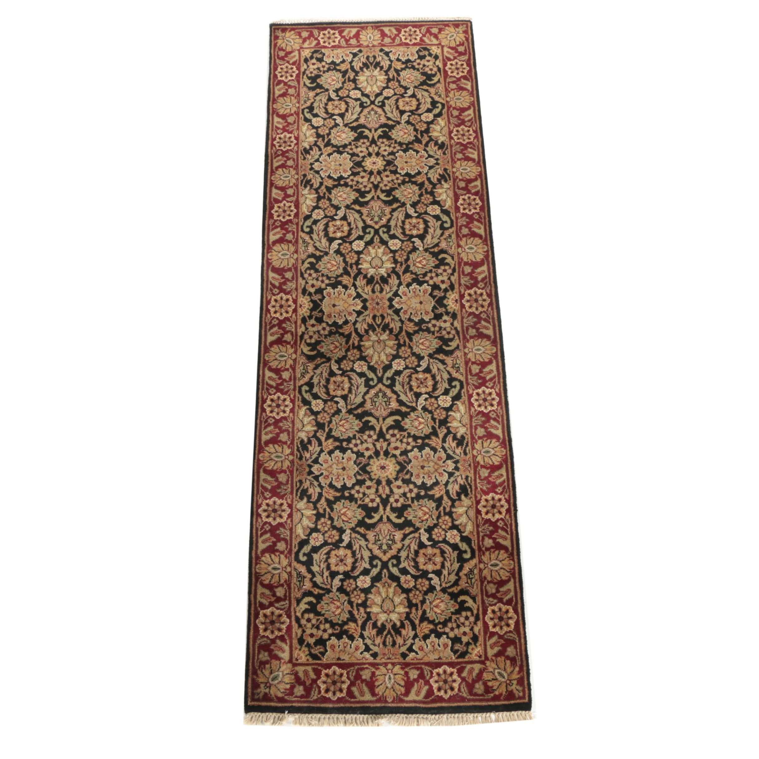 Hand-Knotted Indo-Persian Herati Carpet Runner