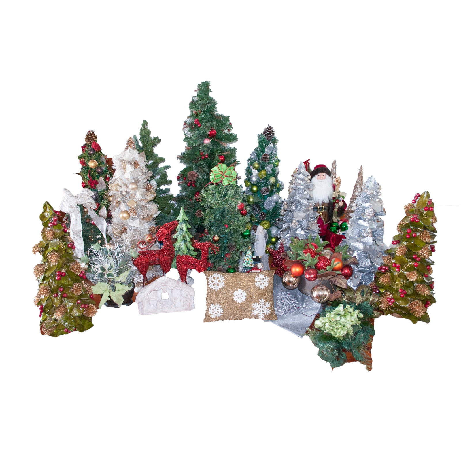 Decorated Christmas Trees and Décor